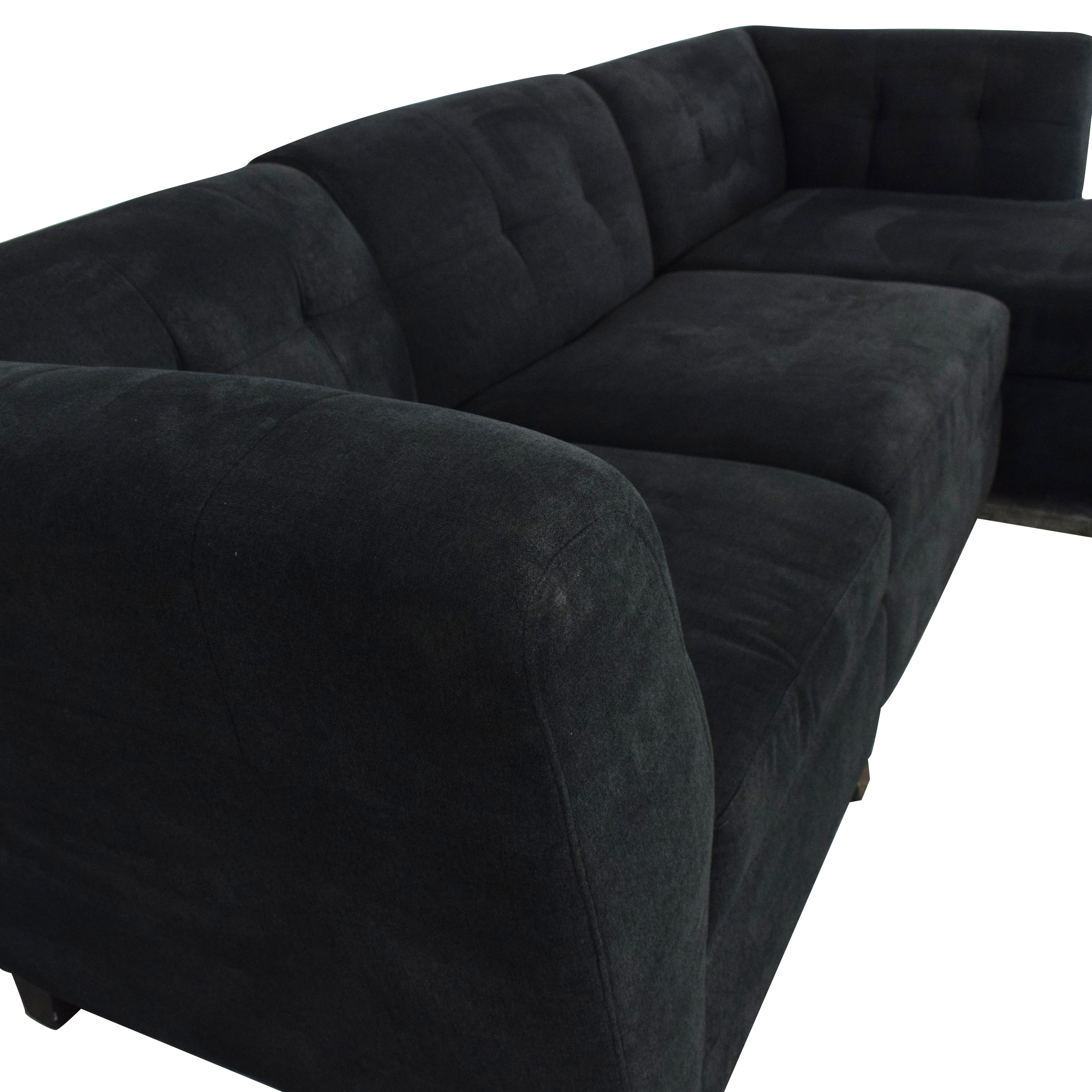 Raymour & Flanigan Raymour & Flanigan Three Piece Tate Sectional Sofa second hand