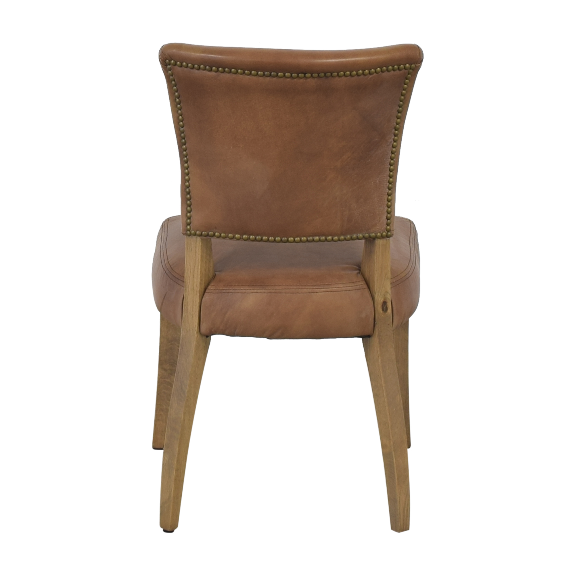 Restoration Hardware Restoration Hardware Adele Leather Side Chair dimensions