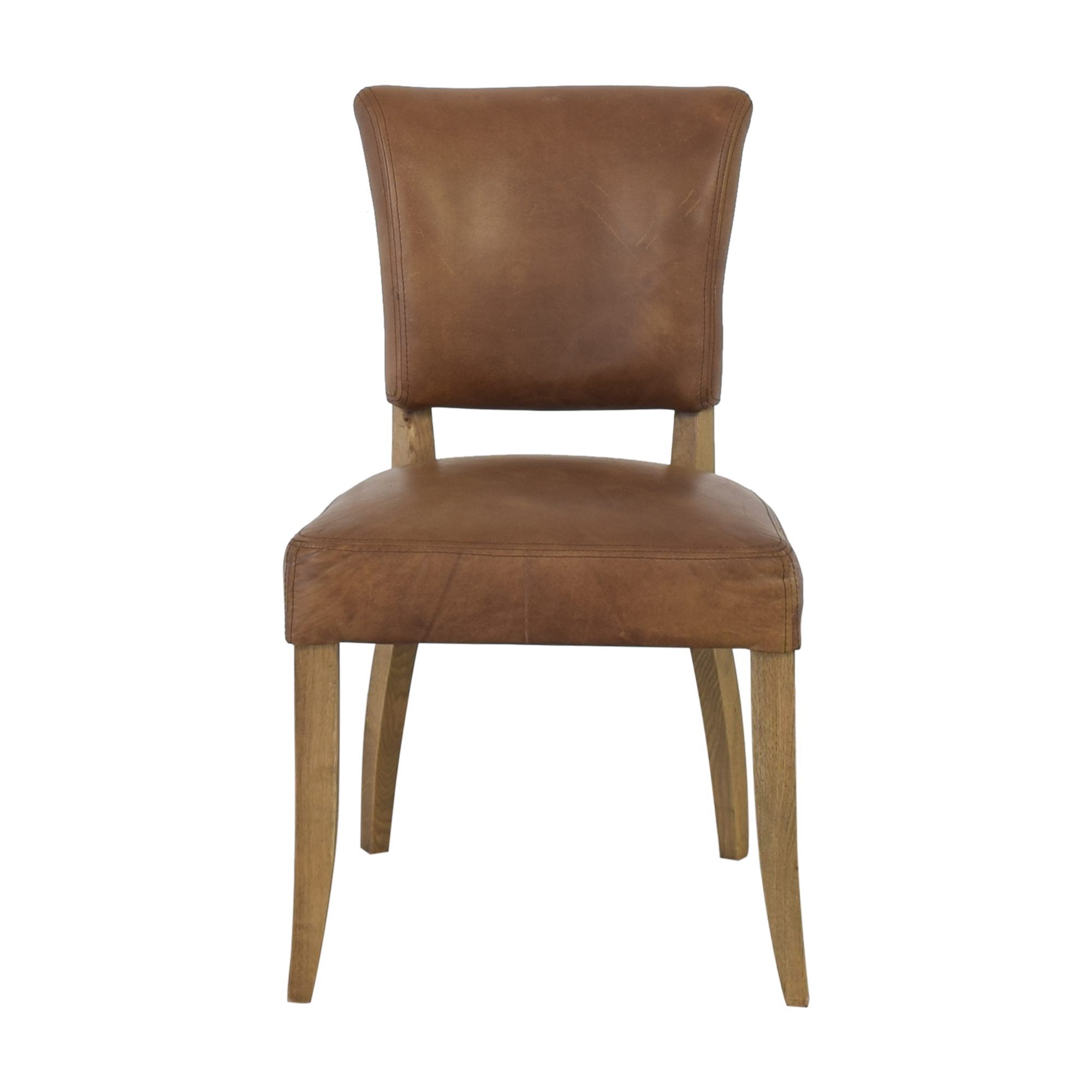 Restoration Hardware Restoration Hardware Adele Leather Side Chair Dining Chairs