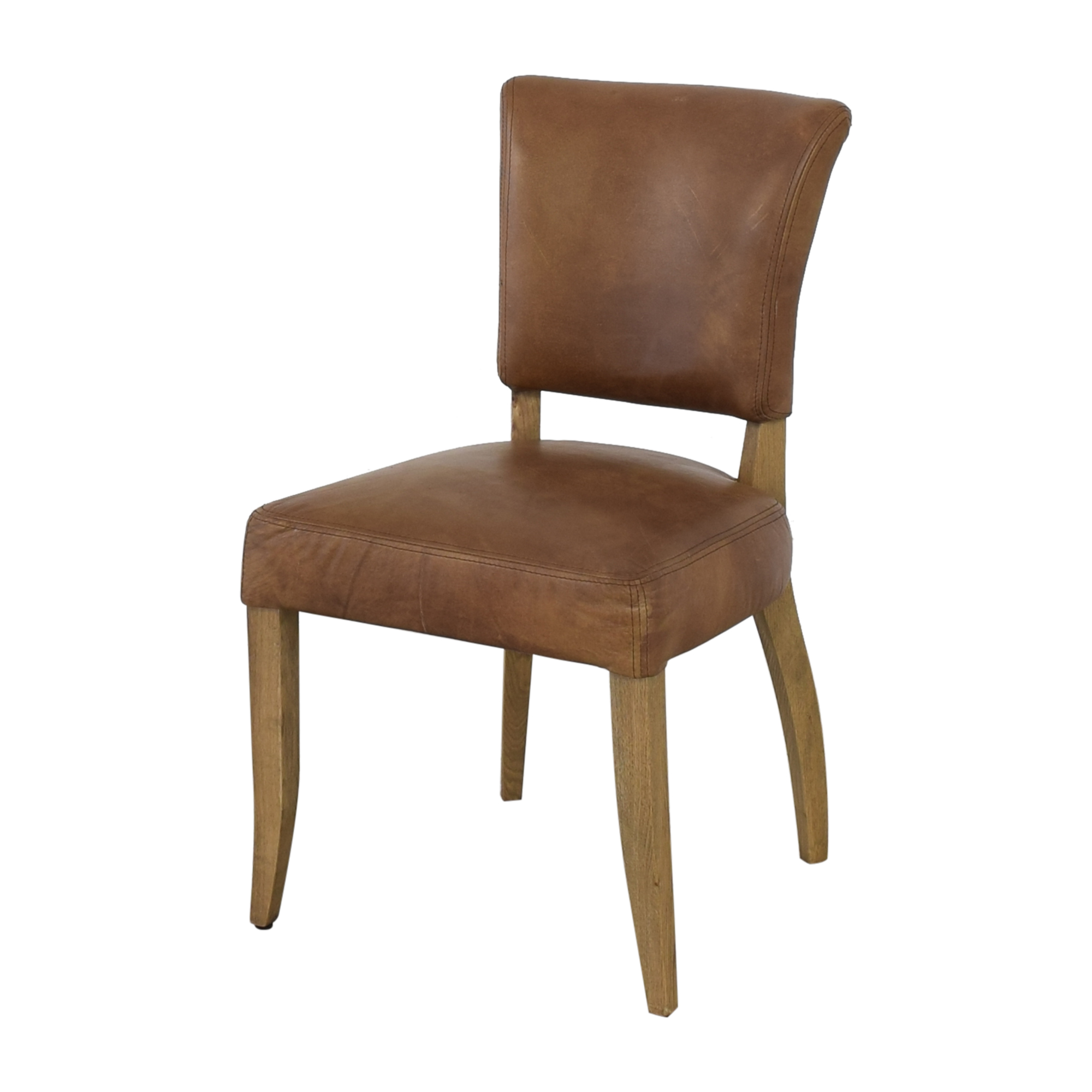 Restoration Hardware Restoration Hardware Adele Leather Side Chair ct