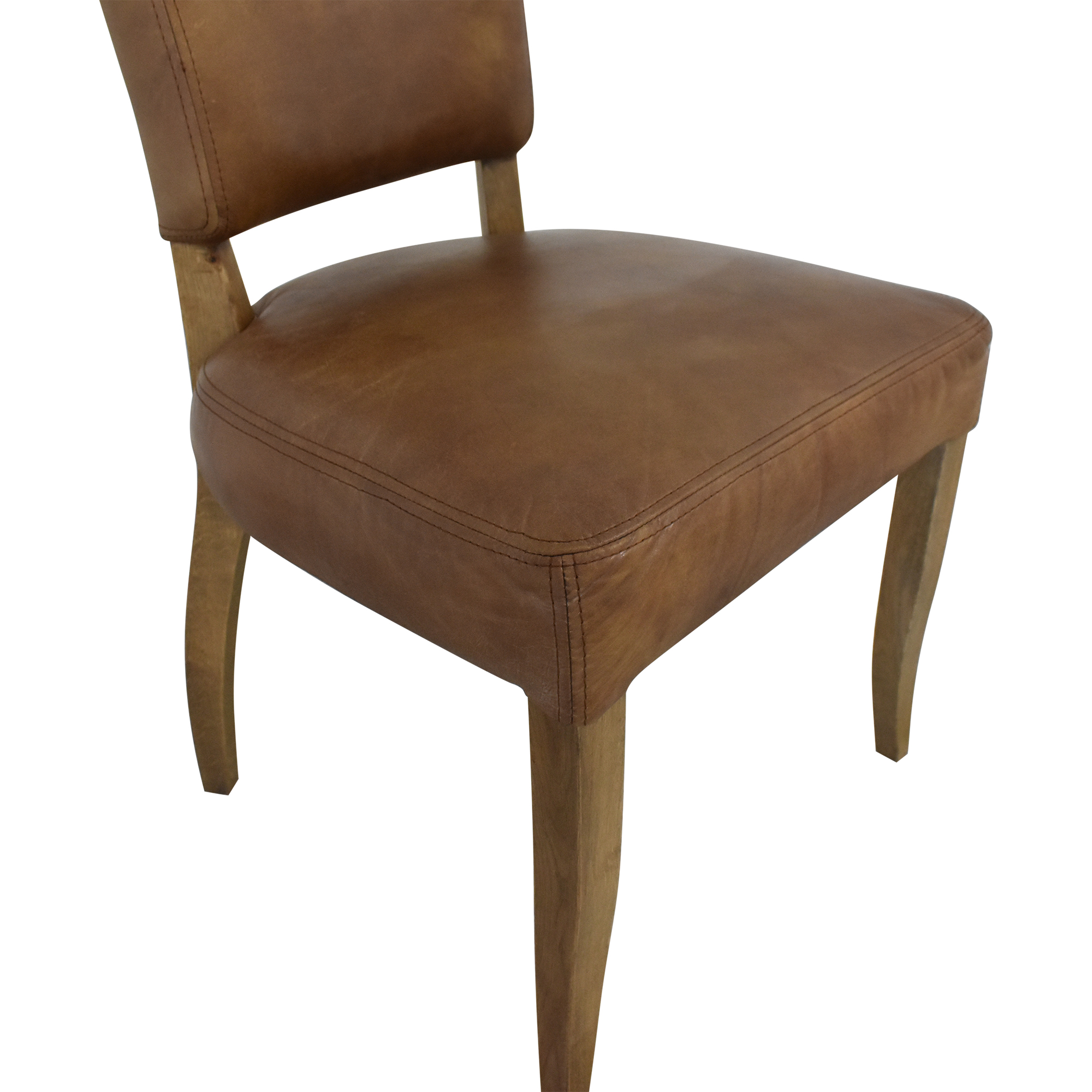 Restoration Hardware Adele Leather Side Chair sale