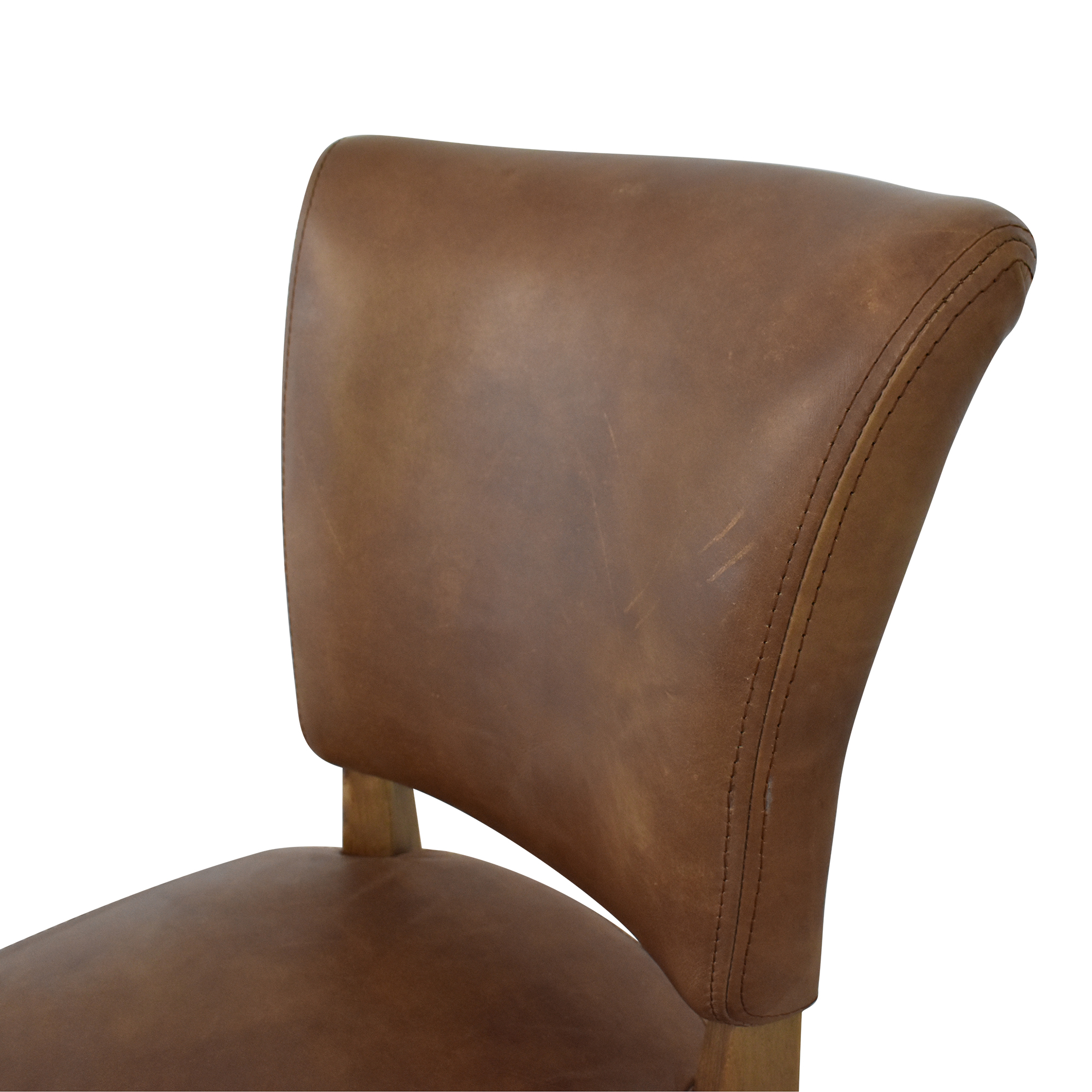 Restoration Hardware Restoration Hardware Adele Leather Side Chair second hand