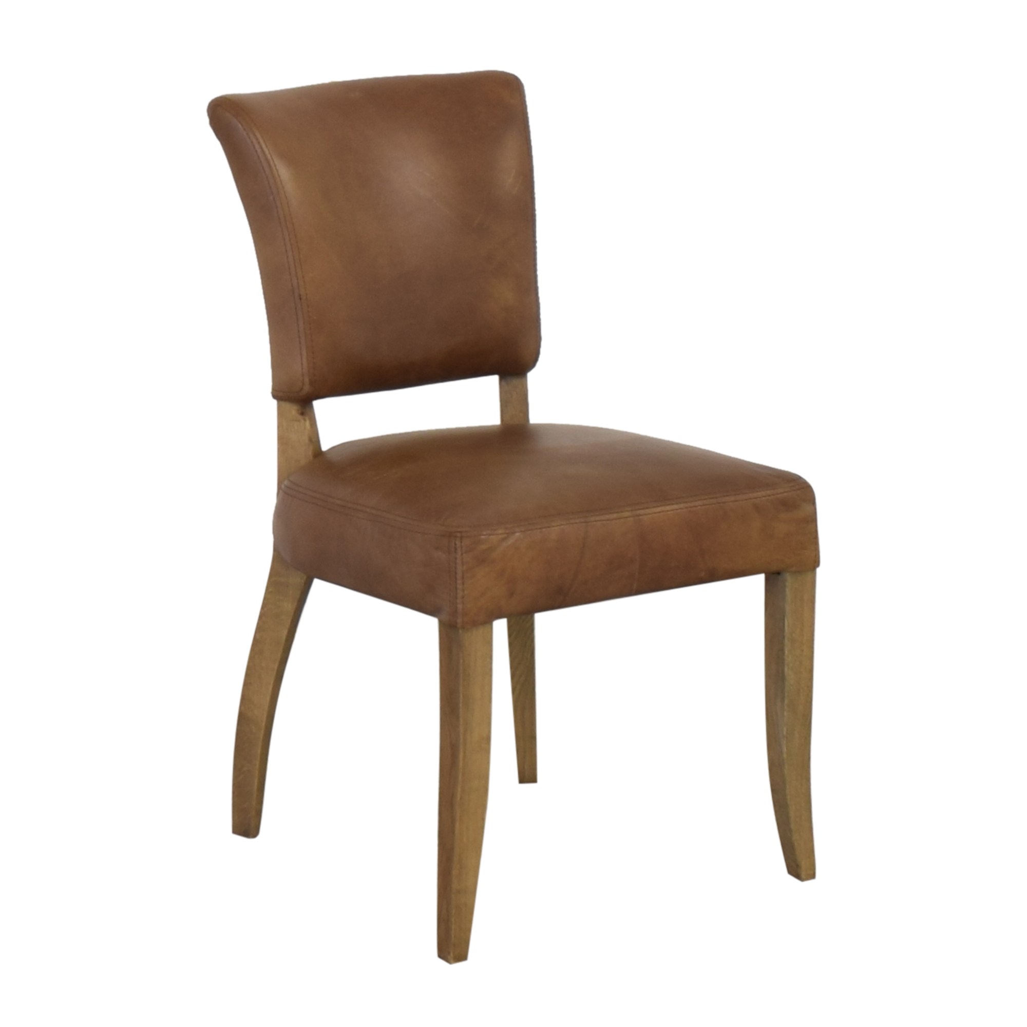 shop Restoration Hardware Adele Leather Side Chair Restoration Hardware