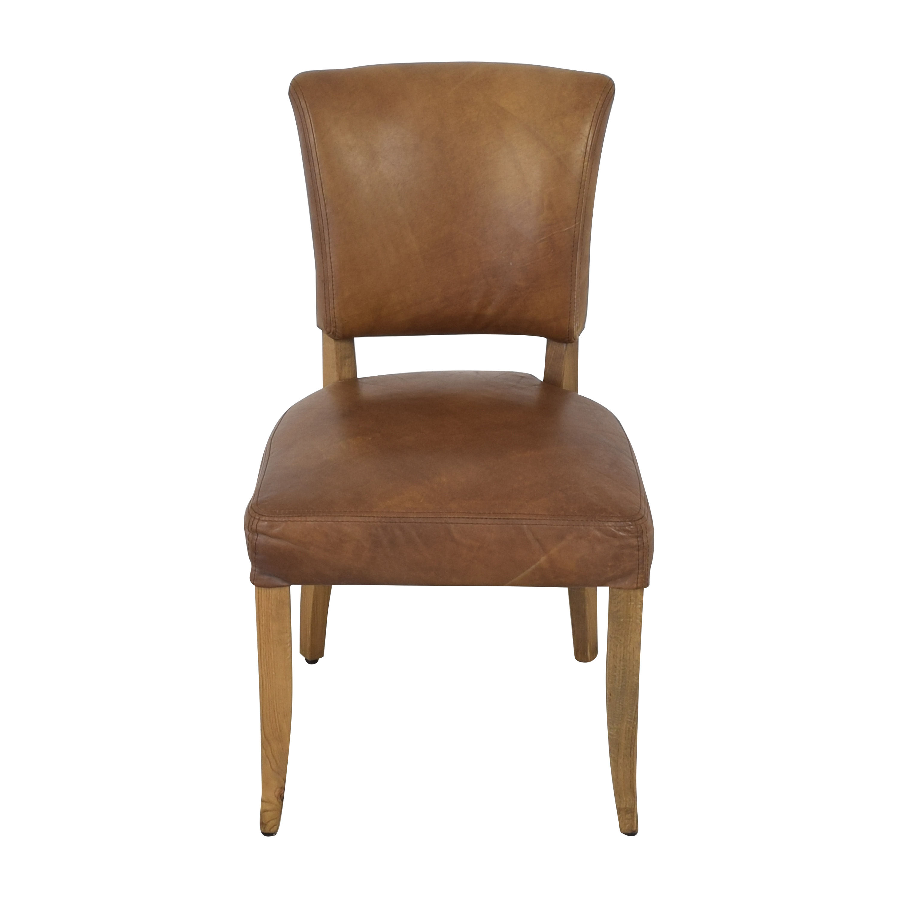 Restoration Hardware Adele Leather Side Chair sale