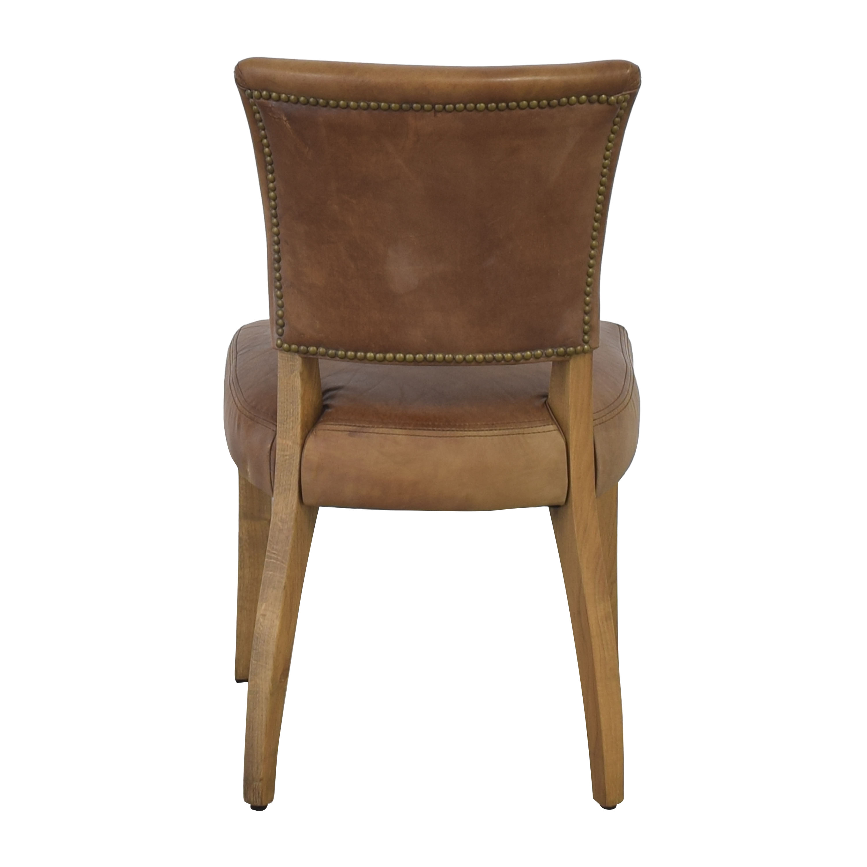 shop Restoration Hardware Adele Leather Side Chair Restoration Hardware
