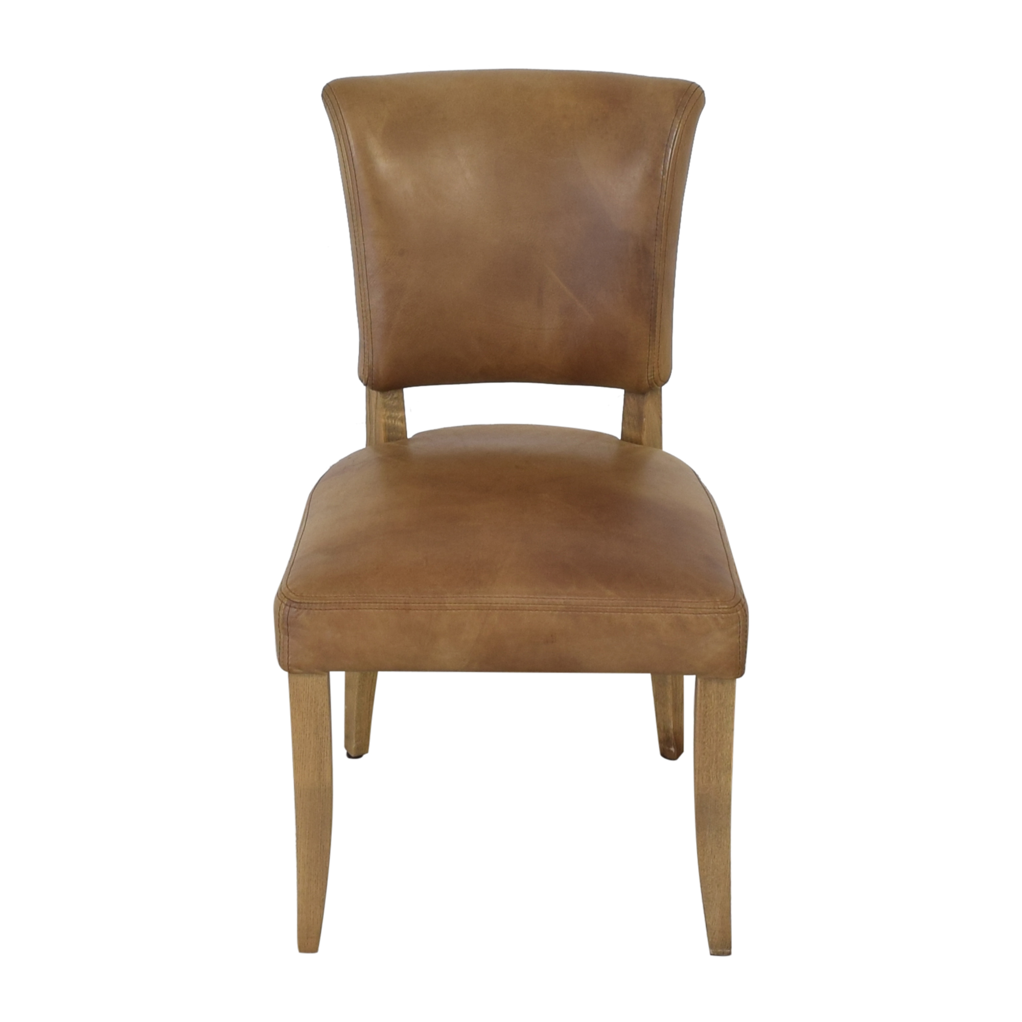 buy Restoration Hardware Adele Leather Side Chair Restoration Hardware Dining Chairs