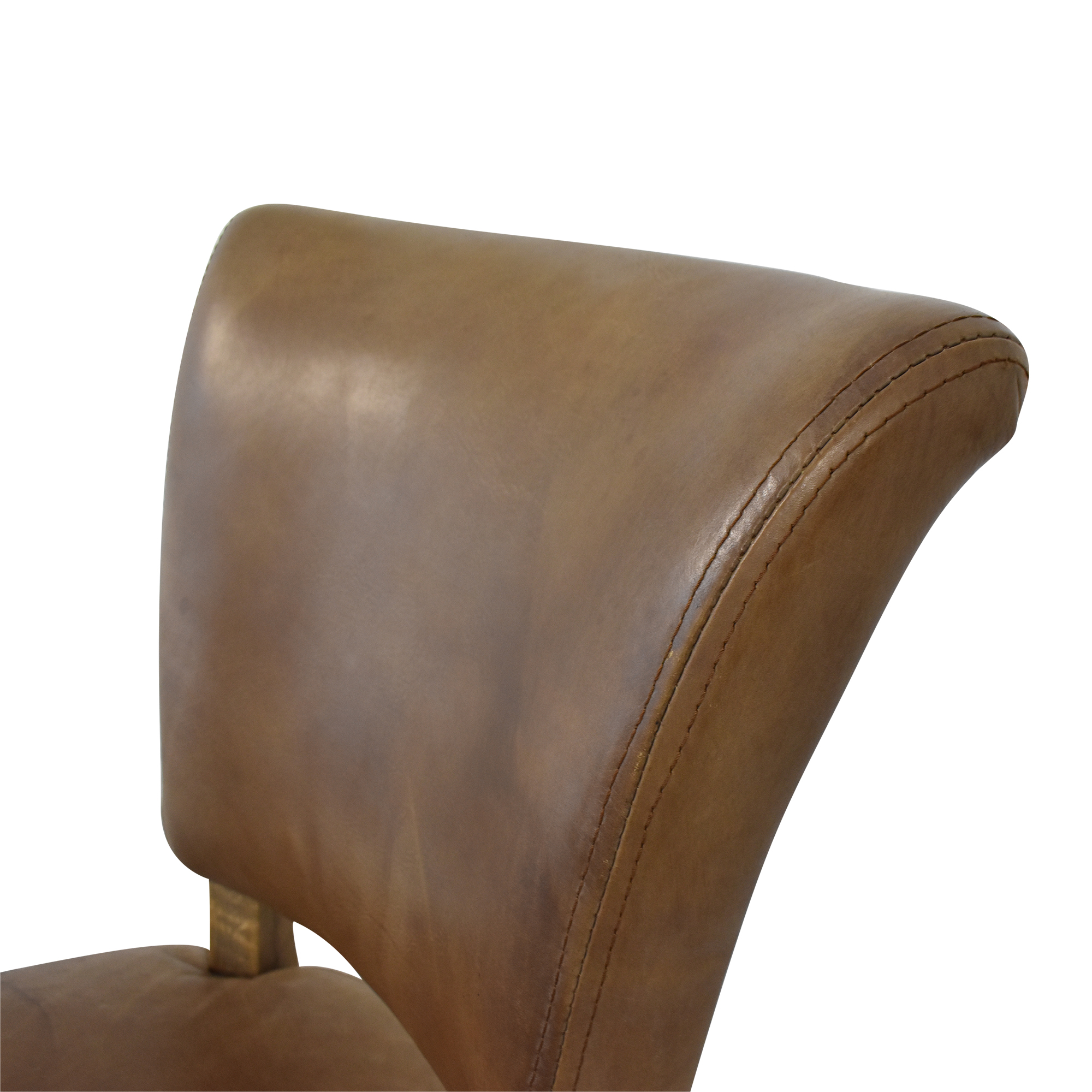Restoration Hardware Adele Leather Side Chair Restoration Hardware
