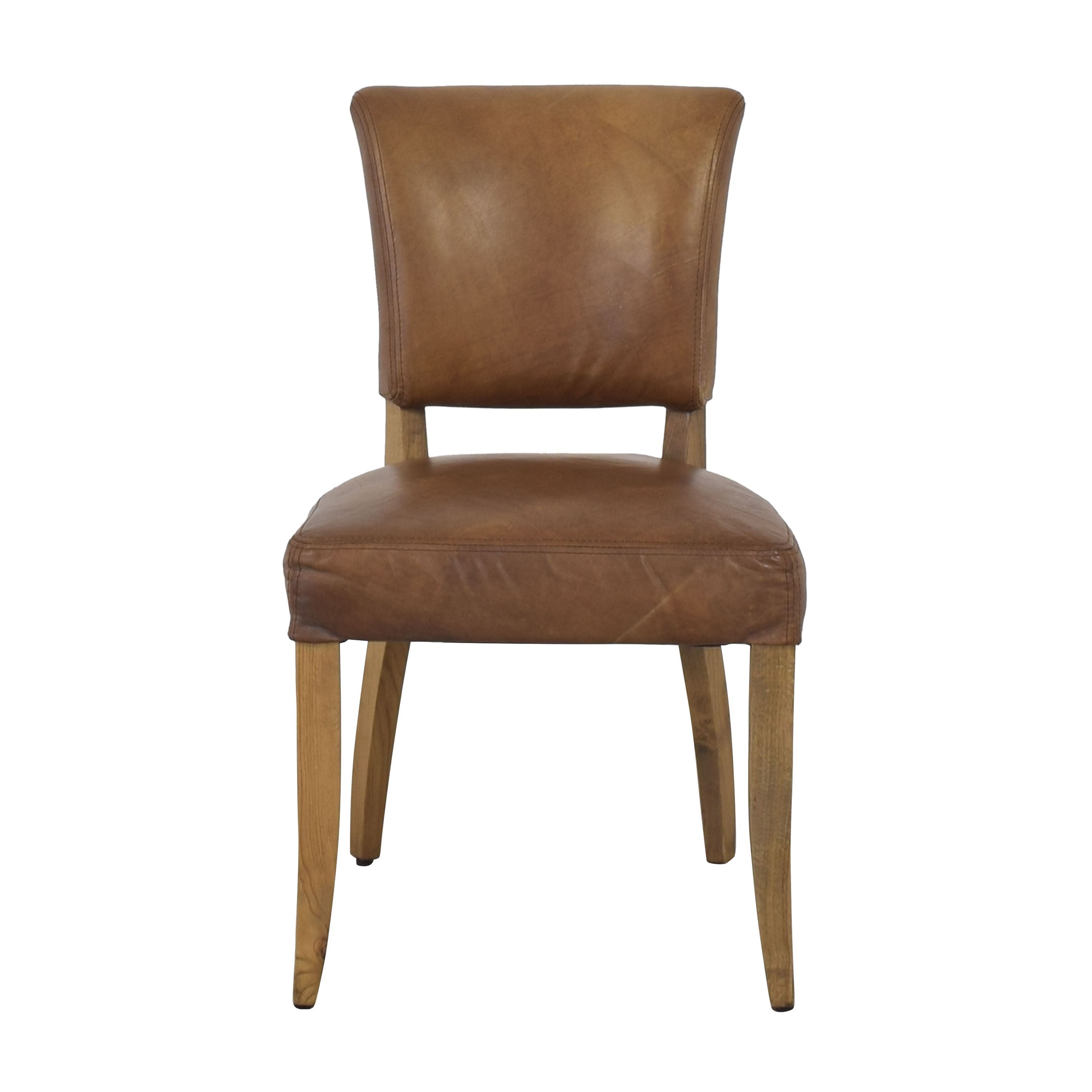 Restoration Hardware Adele Leather Side Chair / Chairs