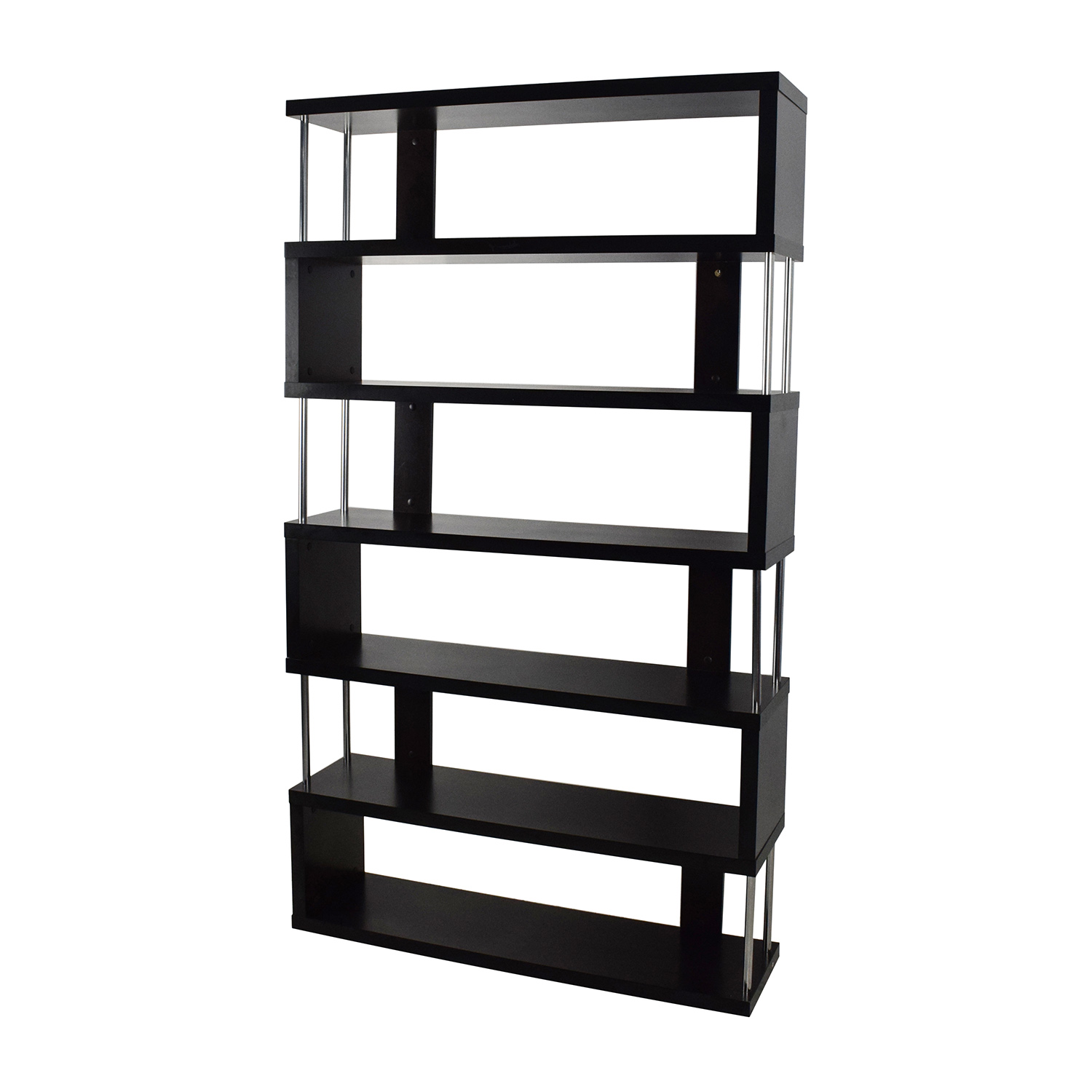 tall storage shelves 70 zigzag shelf unit storage 27066