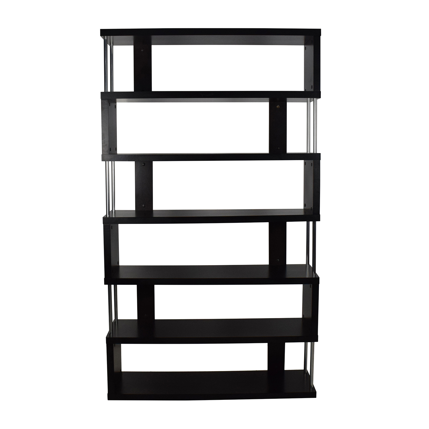 Tall Zigzag Shelf Unit Storage