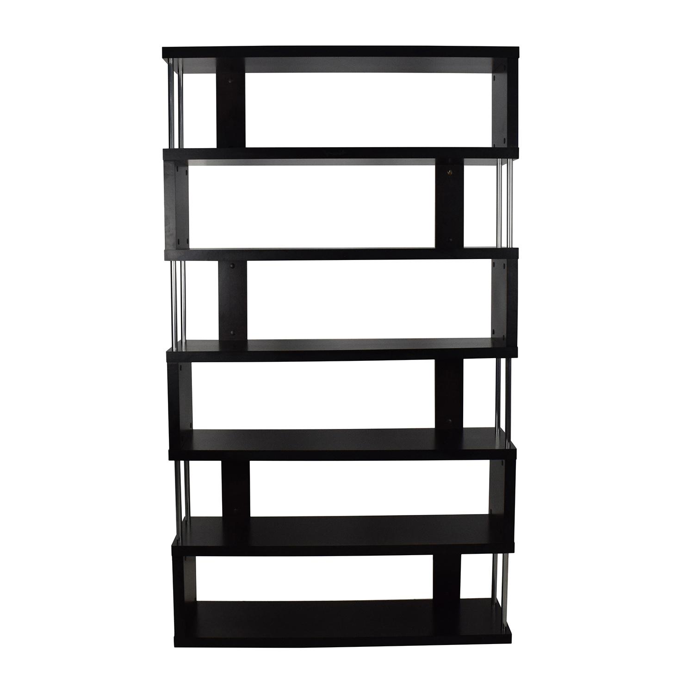 02f67f8b978 70% OFF - Tall Zigzag Shelf Unit   Storage