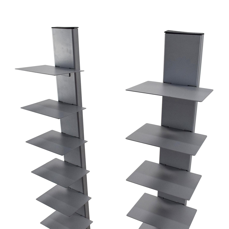 Cb2 Array Silver Bookcase Pair Storage