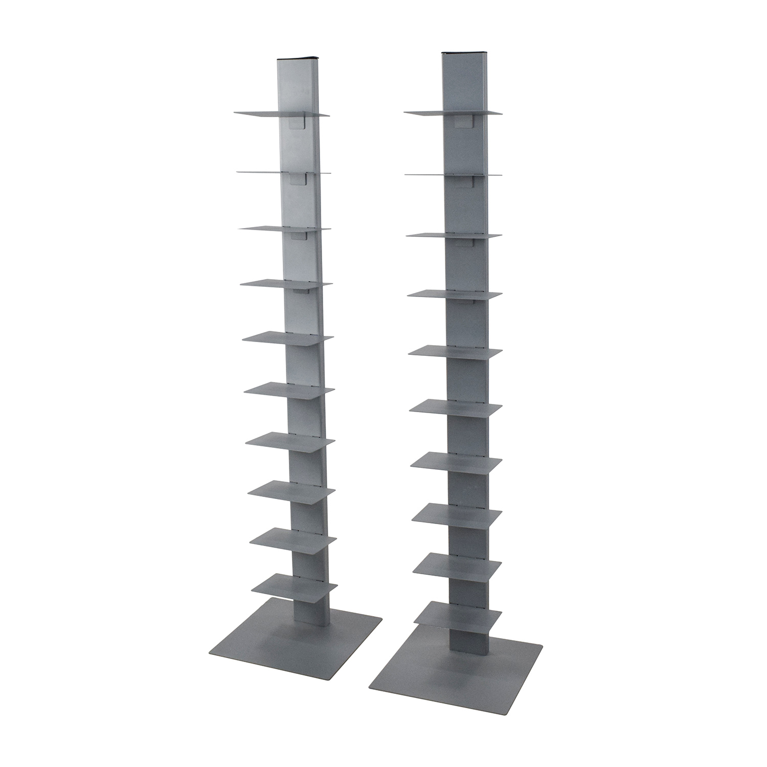 Cb2 Array Silver Bookcase Pair Second Hand