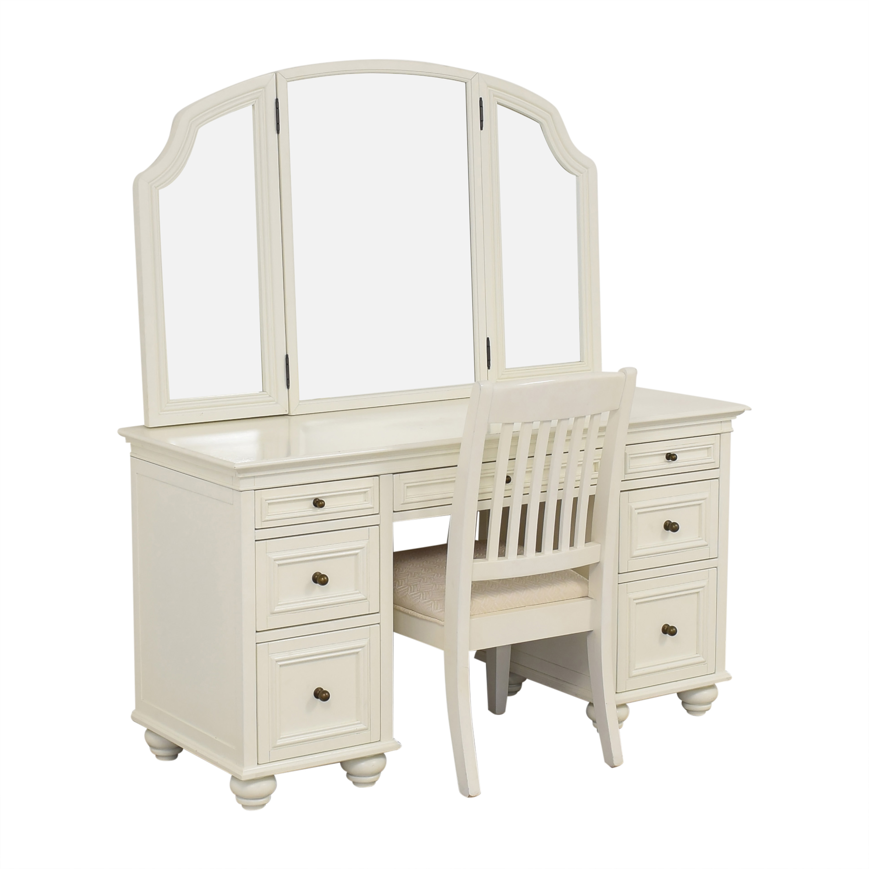 Pottery Barn Pottery Barn Chelsea Vanity Desk with Chair price