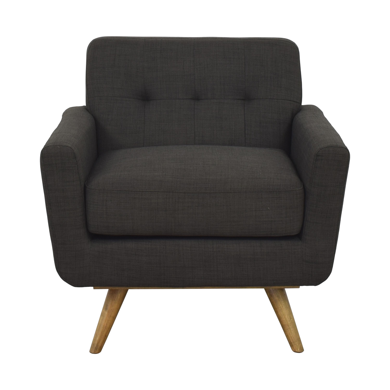 Mid Century Fabric Armchair nj