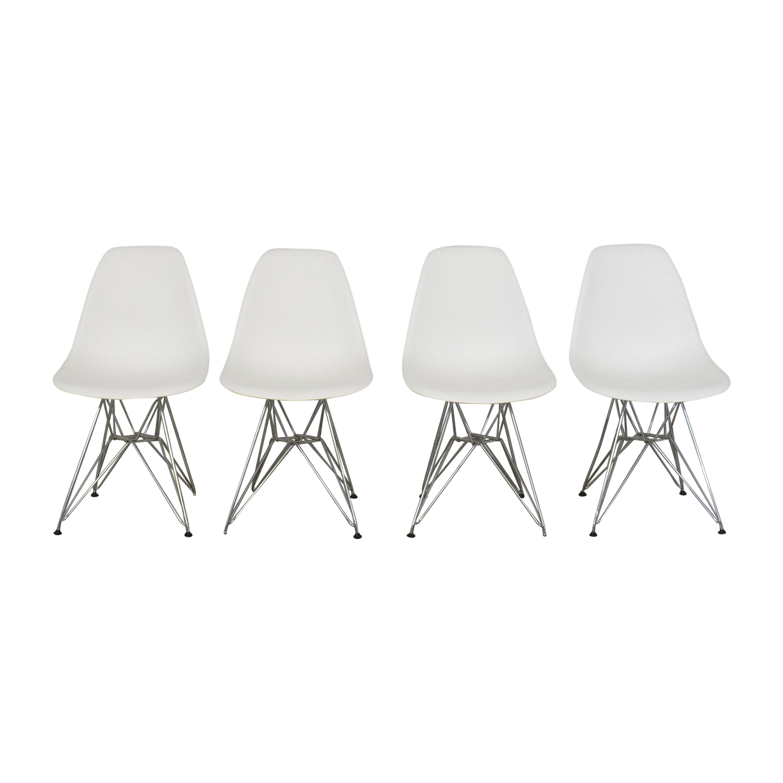 buy Baxton Studio Ronnie Wire Base White Chairs Baxton Studio Chairs