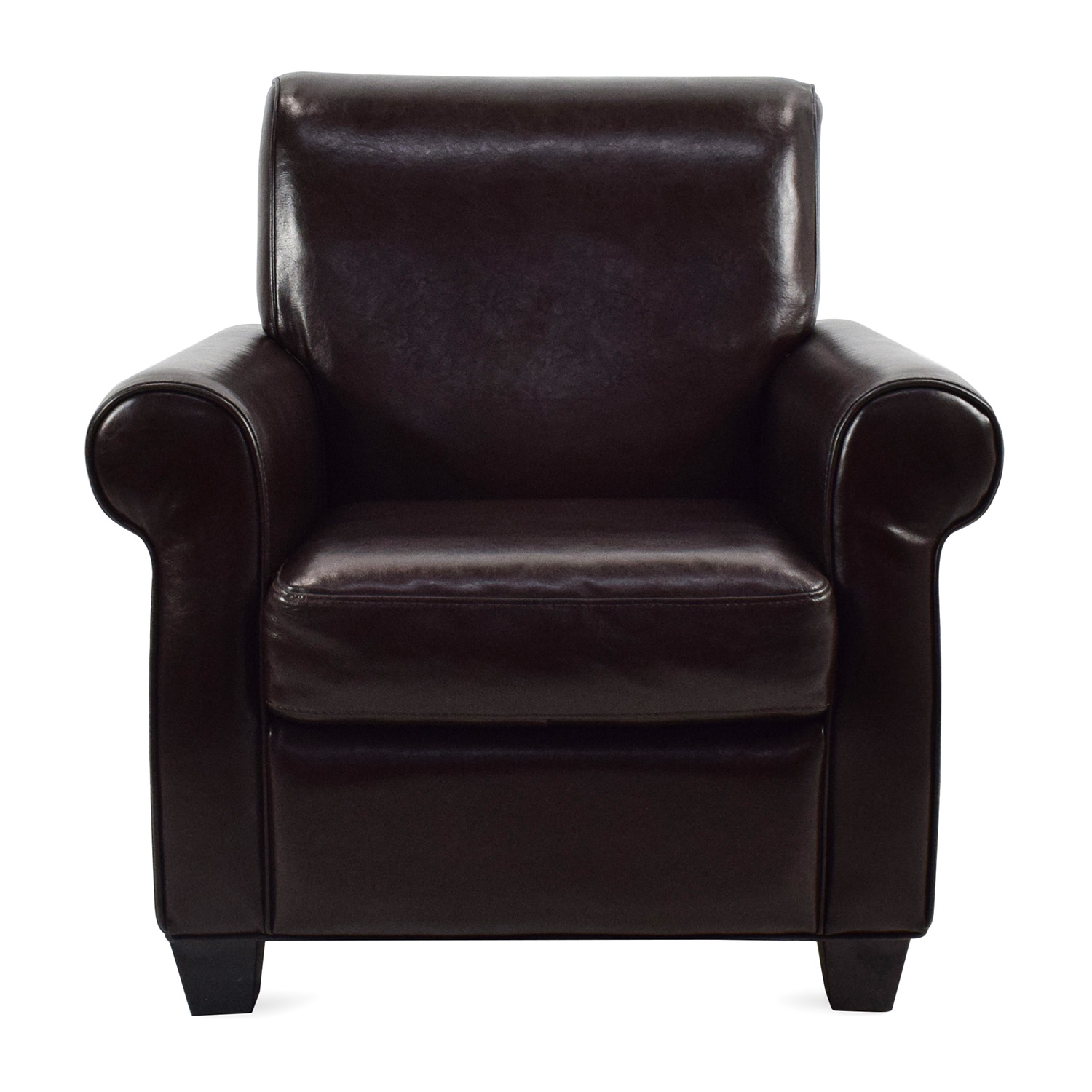 Marvelous Door Store Dark Brown Leather Armchair Door Store ...