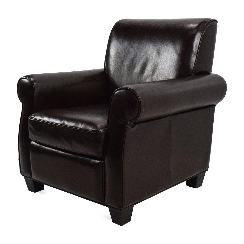 ... Door Store Dark Brown Leather Armchair Sale ...