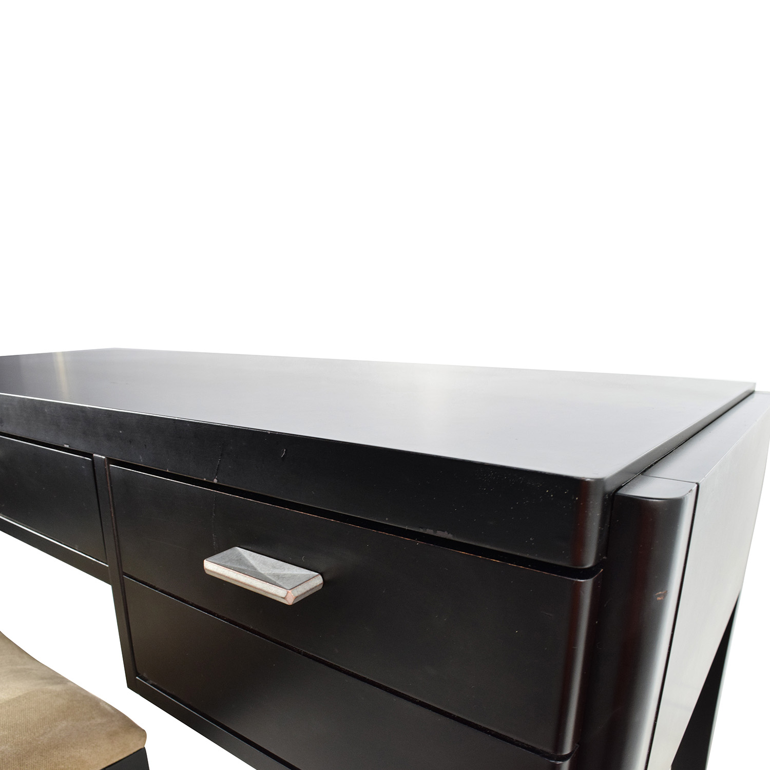 78 Off Crate Amp Barrel Crate Amp Barrel Black Wood Desk