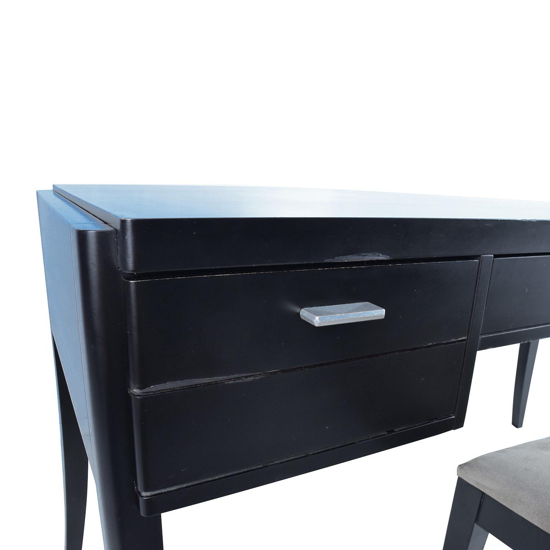 78 Off Crate Barrel Crate Barrel Black Wood Desk