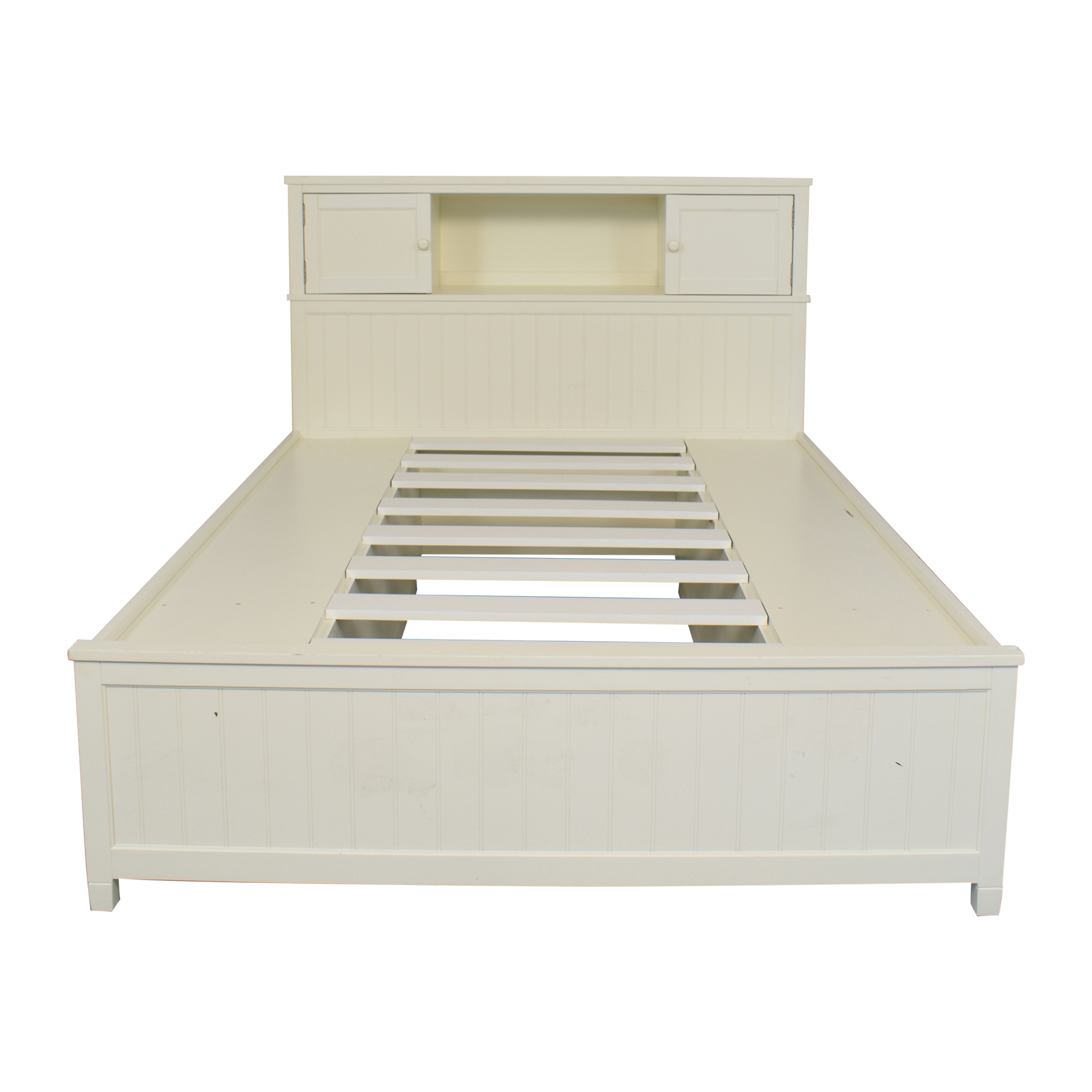 Pottery Barn Teen Queen Beadboard Storage Bed sale