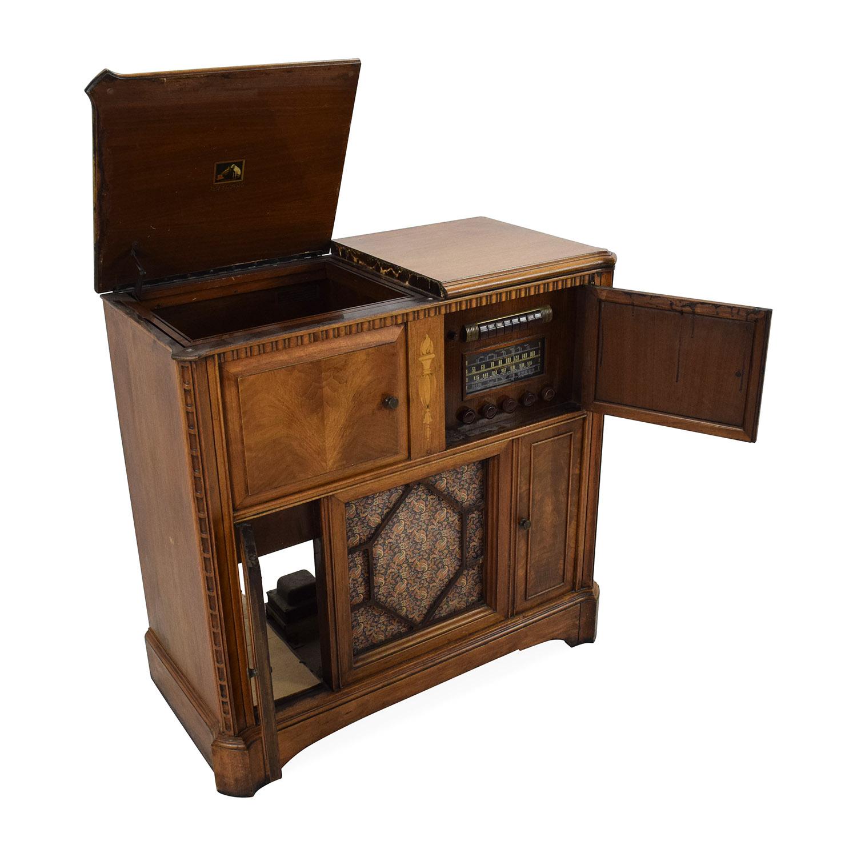 87 Off Rca Victrola 1940 S Antique Radio Cabinet Storage