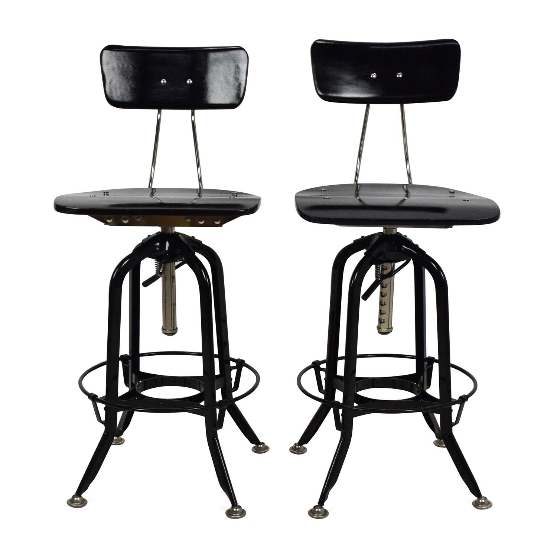 Awe Inspiring 71 Off Restoration Hardware Restoration Hardware Vintage Toledo Bar Chair Pair Chairs Short Links Chair Design For Home Short Linksinfo
