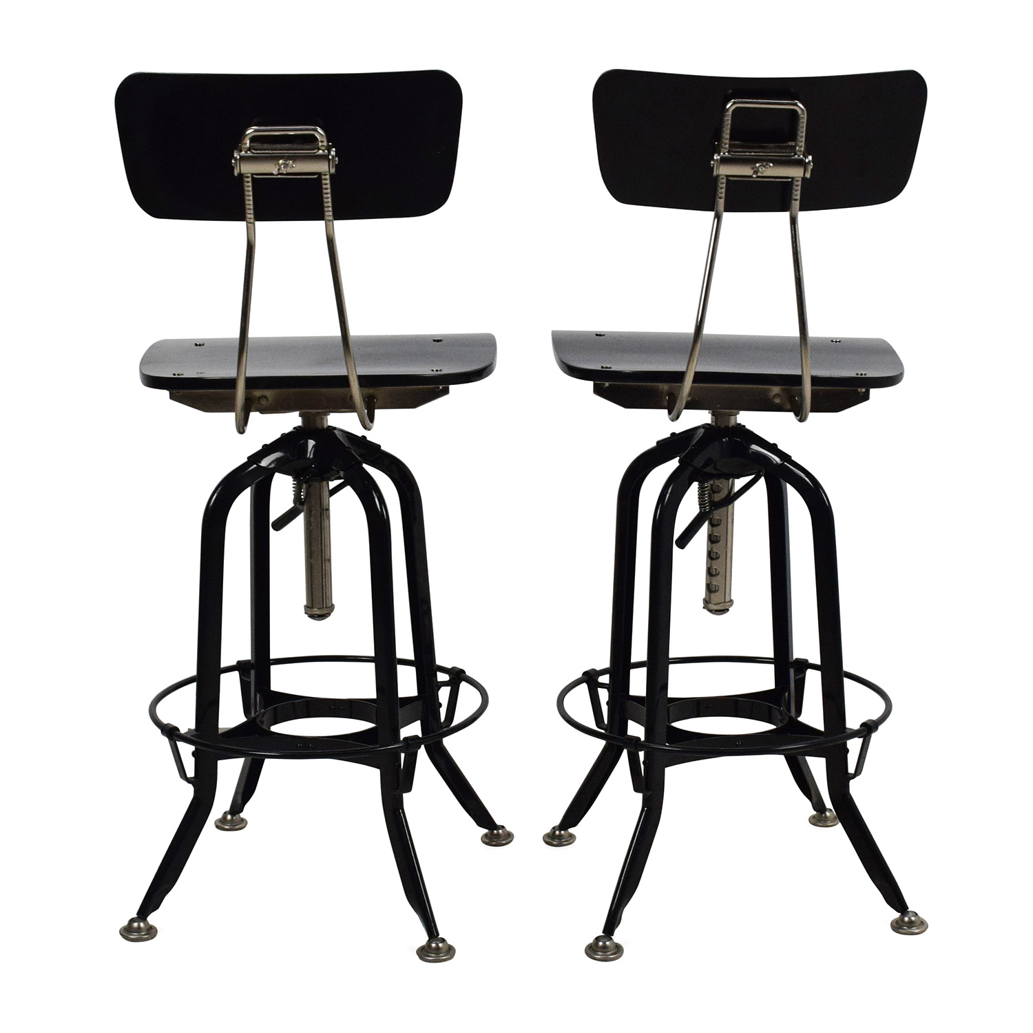 71 Off Restoration Hardware Restoration Hardware Vintage Toledo Bar Chair Pair Chairs