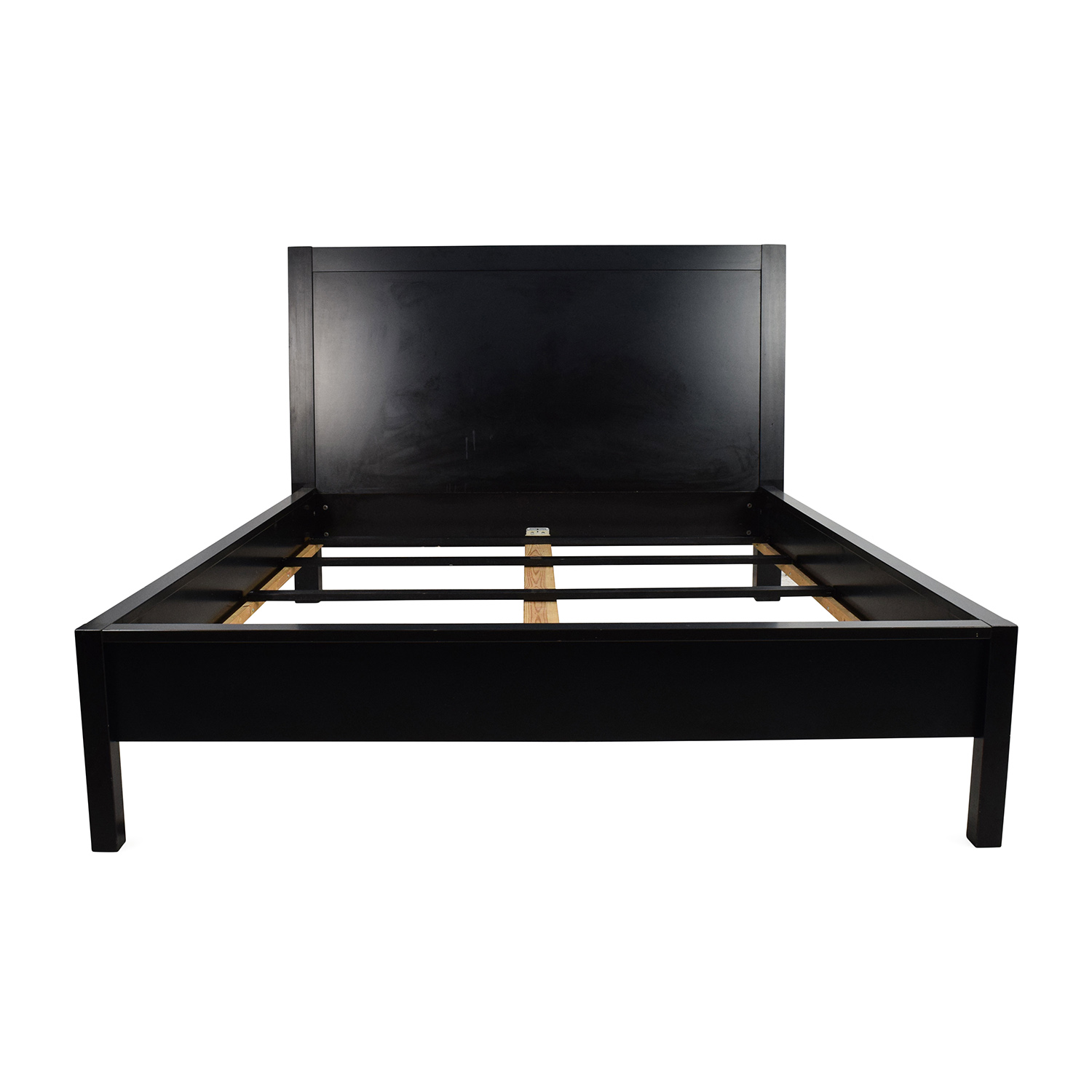 Black Solid Wood Queen Sized Bed Frame Frames