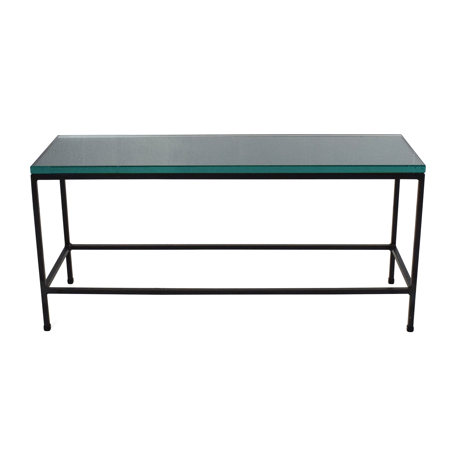 CB2 Glass Top Coffee Table CB2