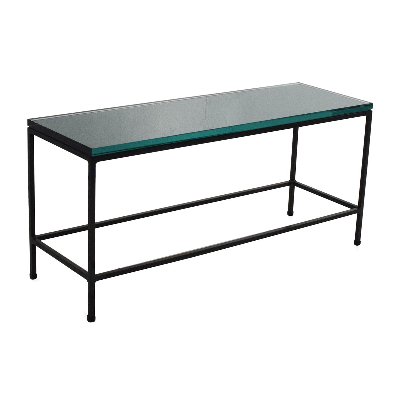 Ottoman Coffee Table Cb2: CB2 CB2 Glass Top Coffee Table / Tables