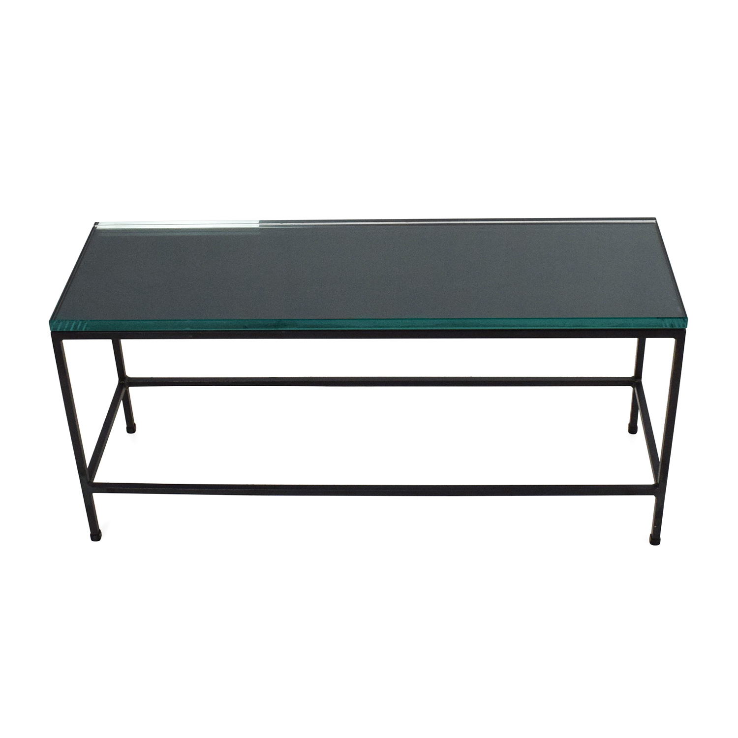 CB2 Glass Top Coffee Table sale