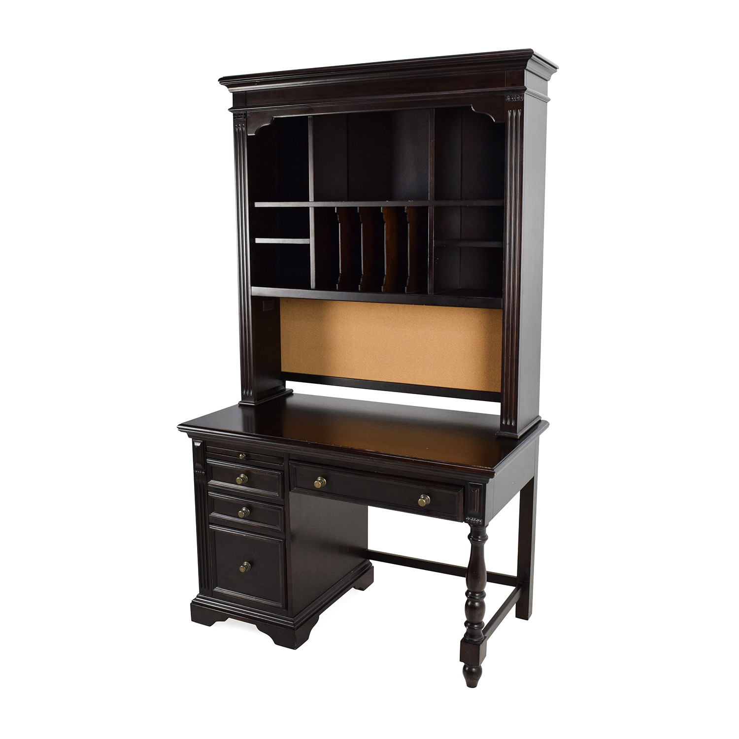 home perfect solid black rustic workstation for furniture modern shaped hutch executive trend l ideas top roll computer white sale in office wood with desk greenville cheap desks