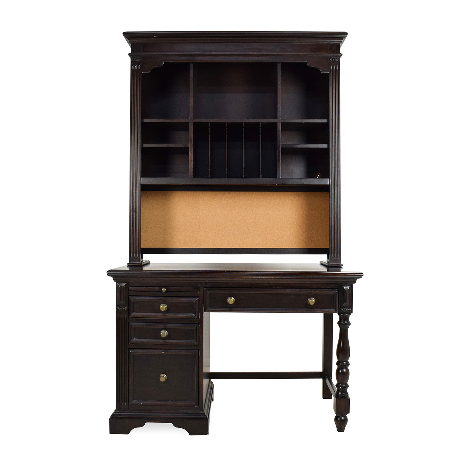 shop Pulaski Pulaski Solid Wood Desk with Hutch online
