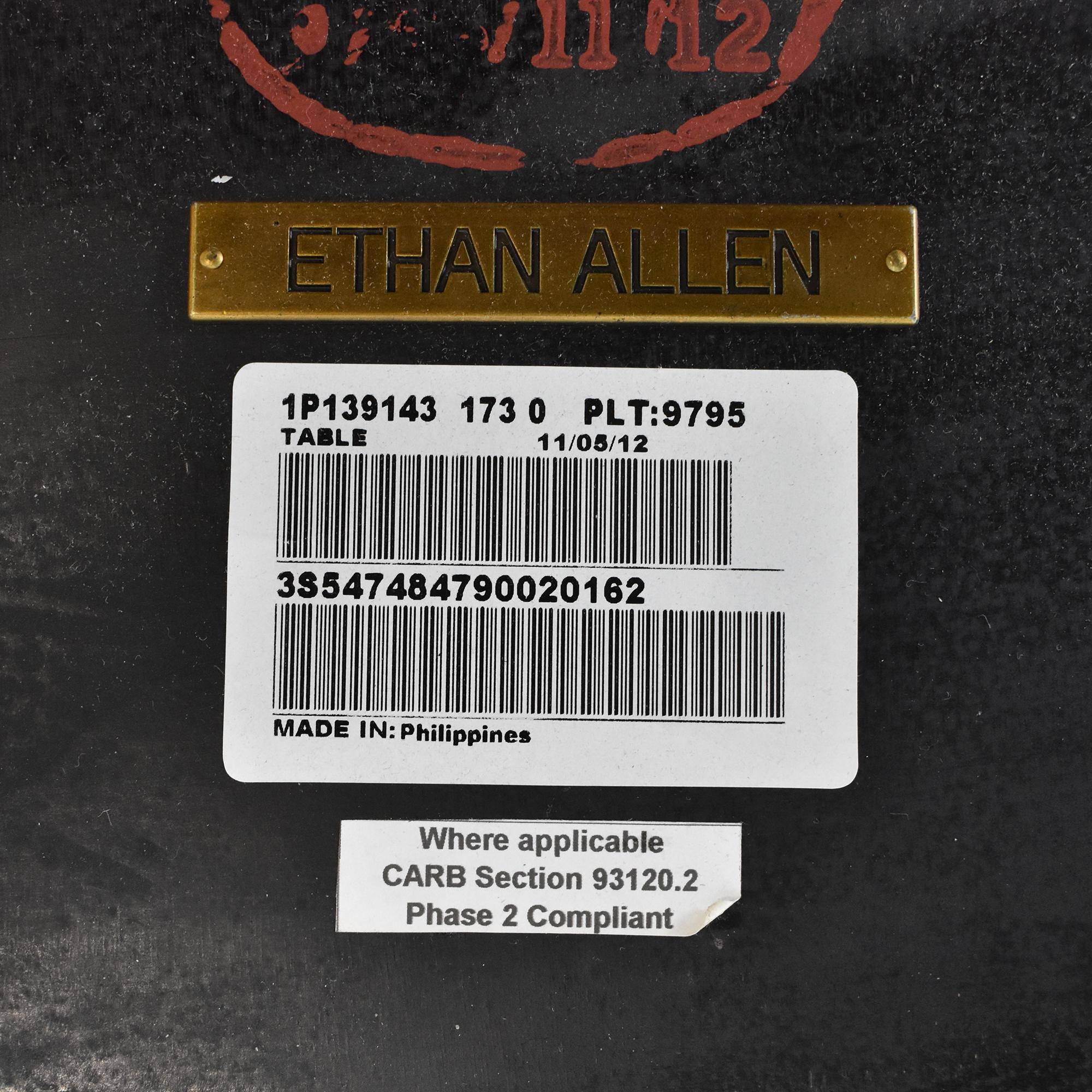 shop Ethan Allen Round End Table Ethan Allen End Tables