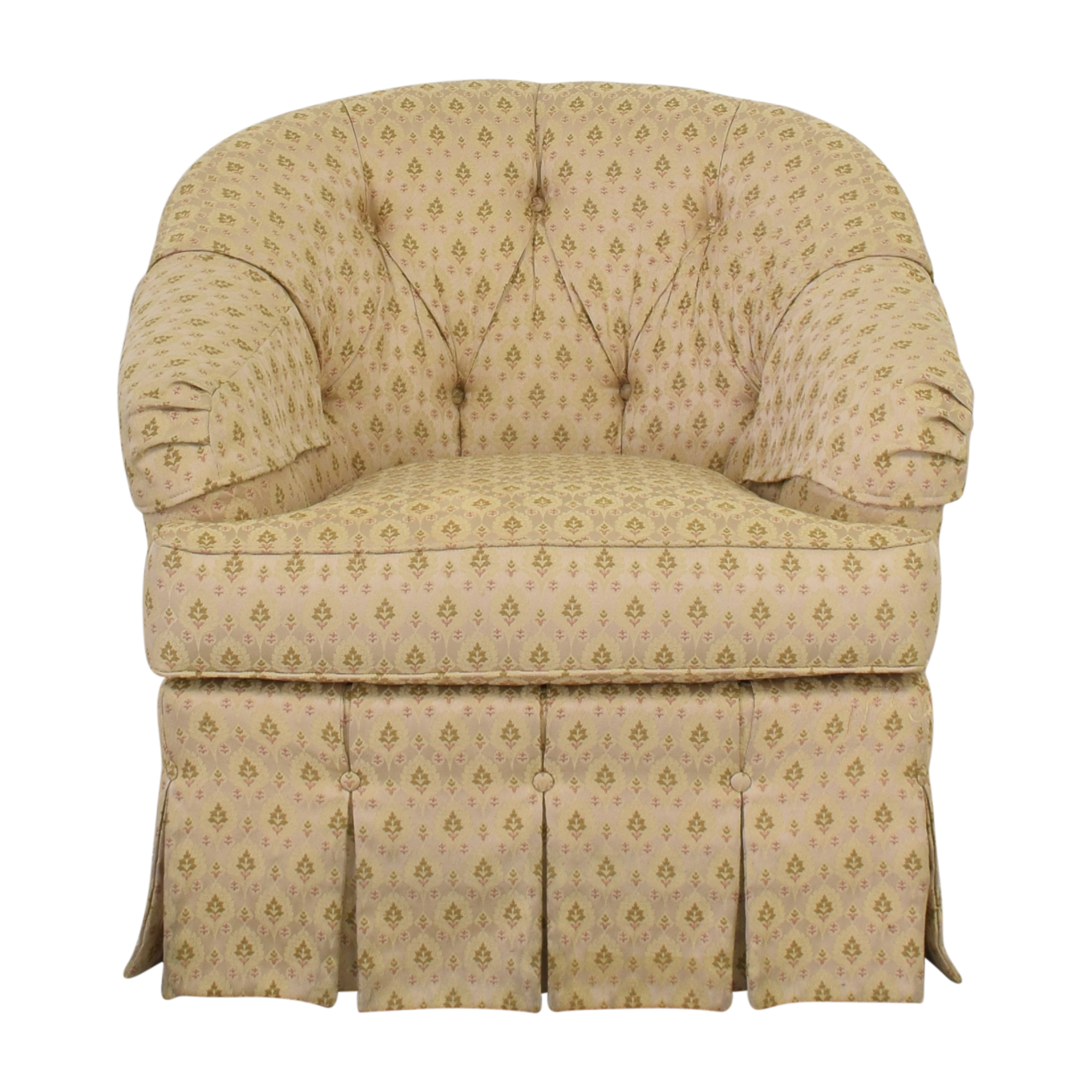 buy Ethan Allen Skirted Swivel Chair Ethan Allen