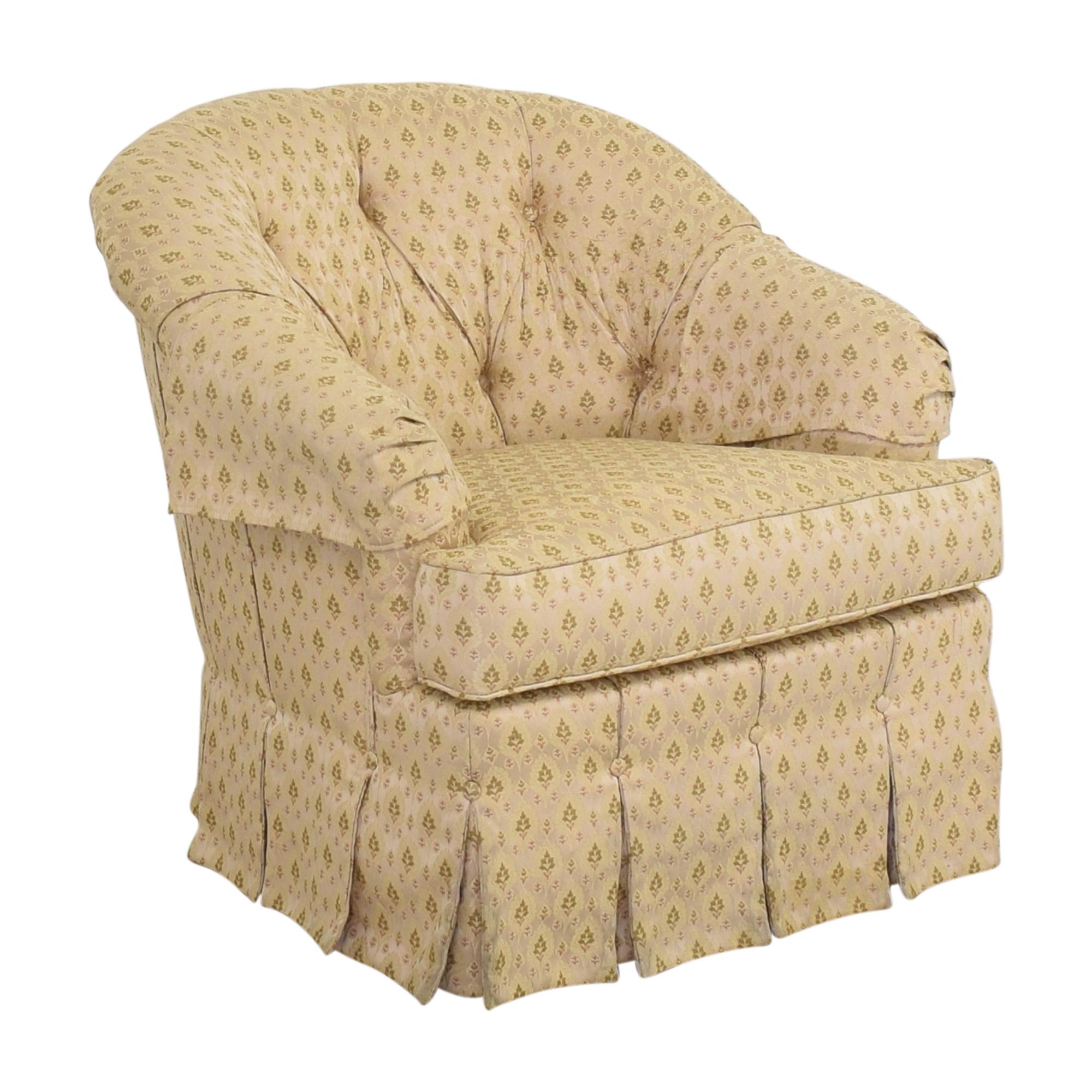 Ethan Allen Ethan Allen Skirted Swivel Chair pa