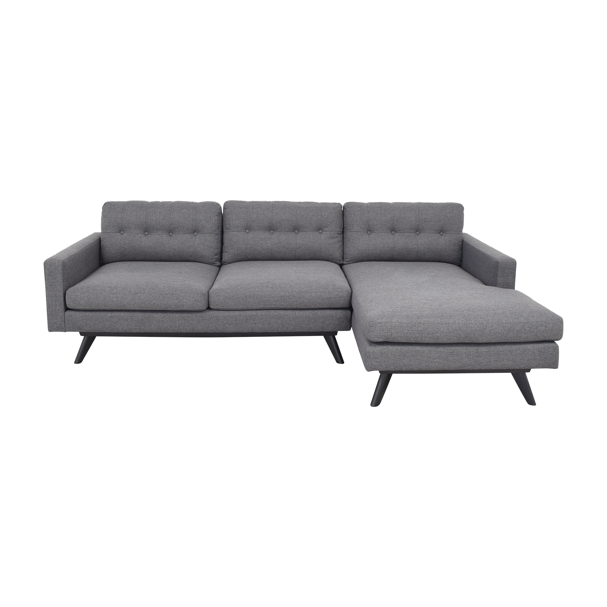 Mid-Century Modern Chaise Sectional Sofa / Sofas