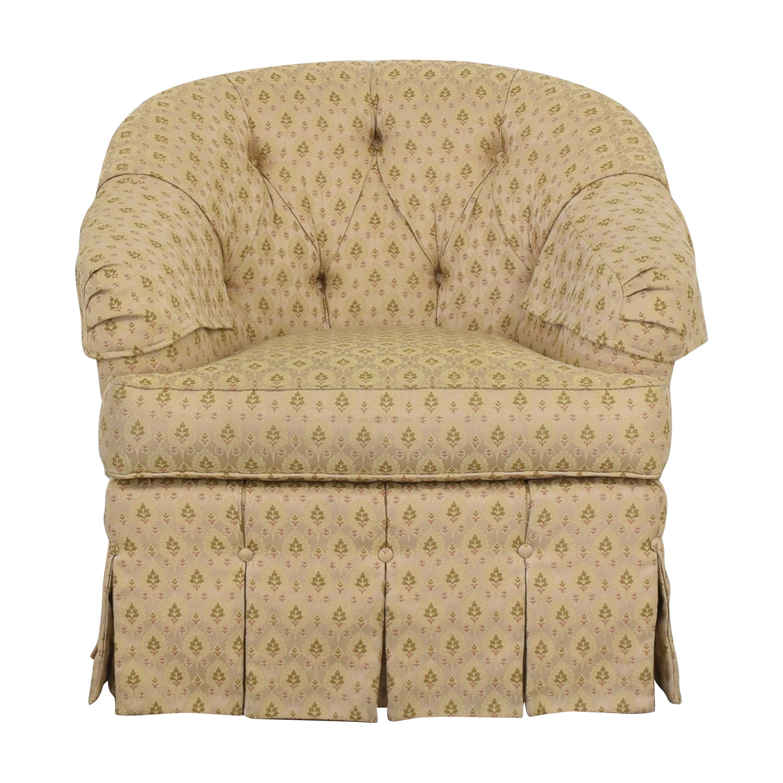 Ethan Allen Skirted Swivel Chair Ethan Allen