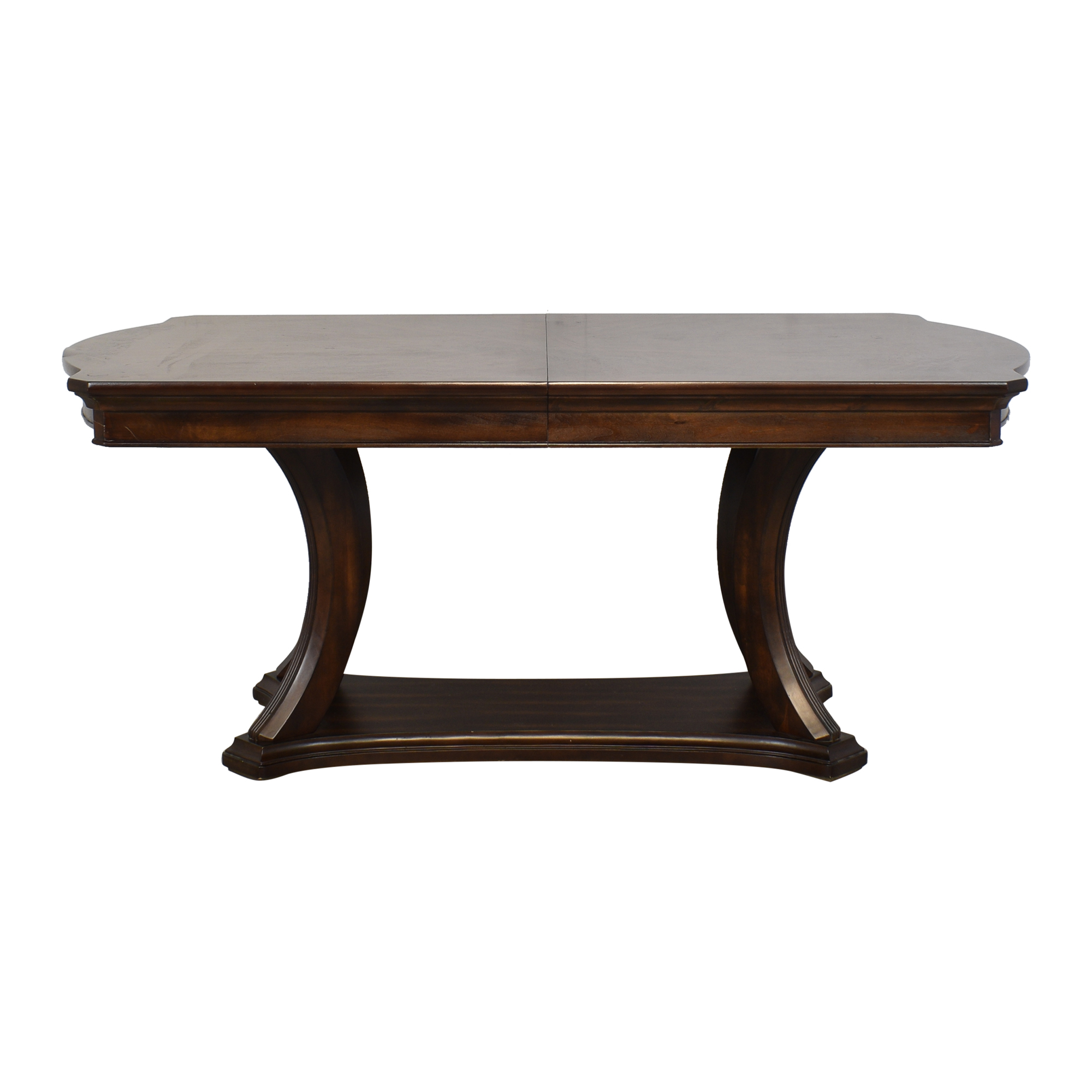 Pedestal Base Extendable Dining Table sale