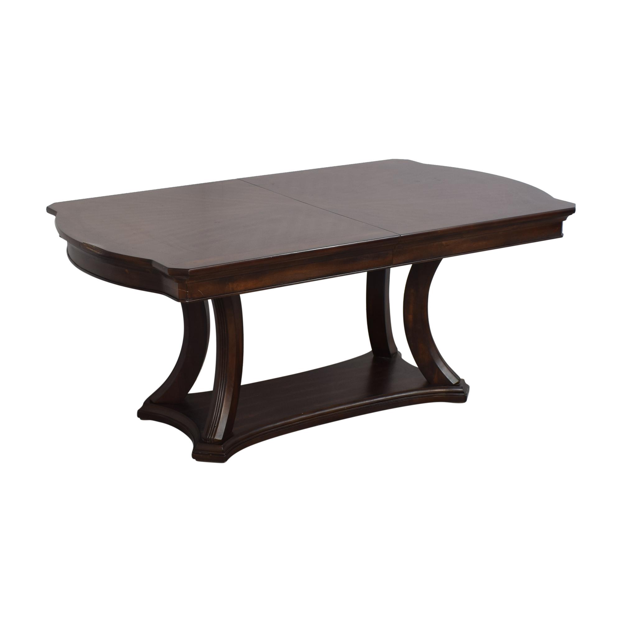 Pedestal Base Extendable Dining Table Dinner Tables