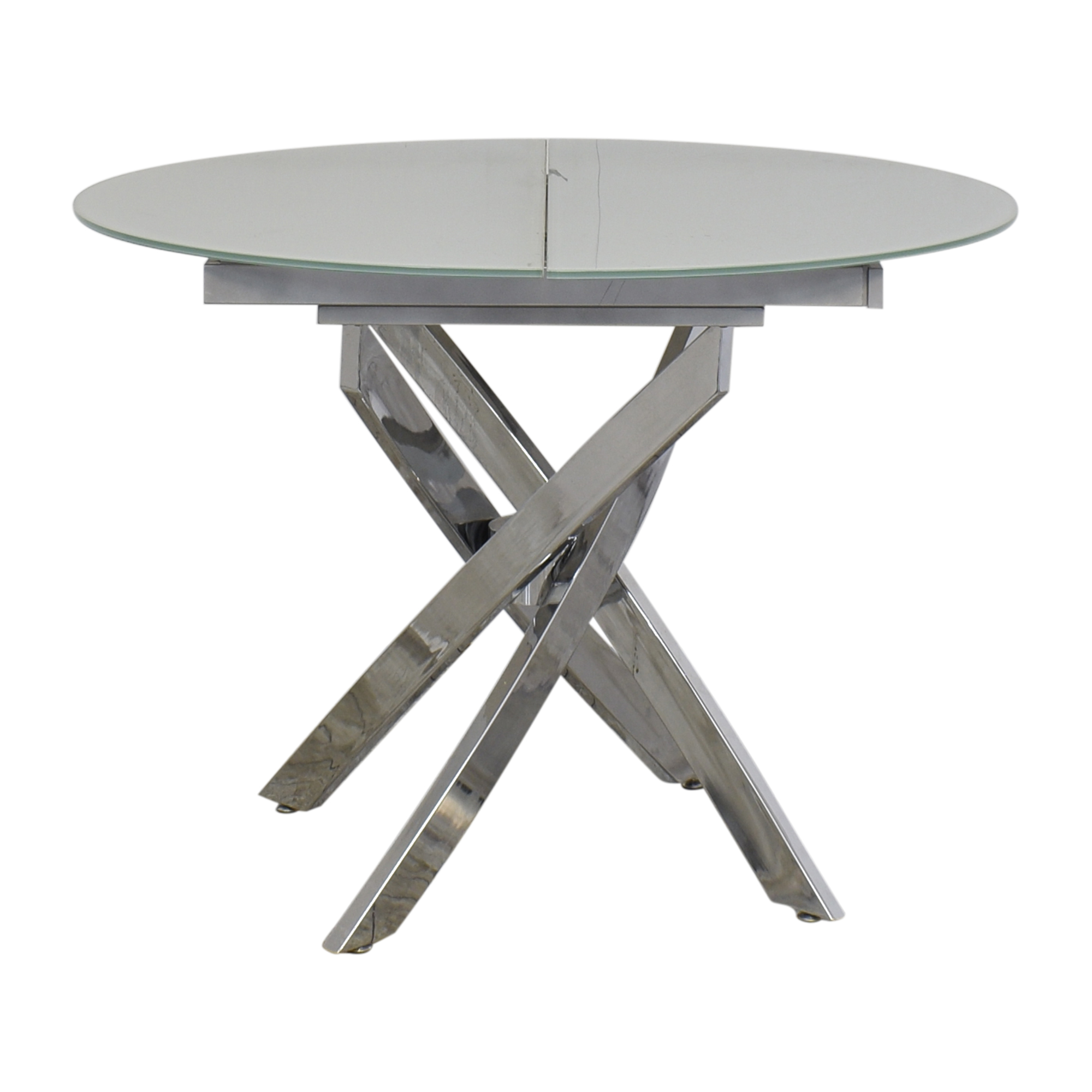 Lumens Lumens Modern Extendable Glass Dining Table ma
