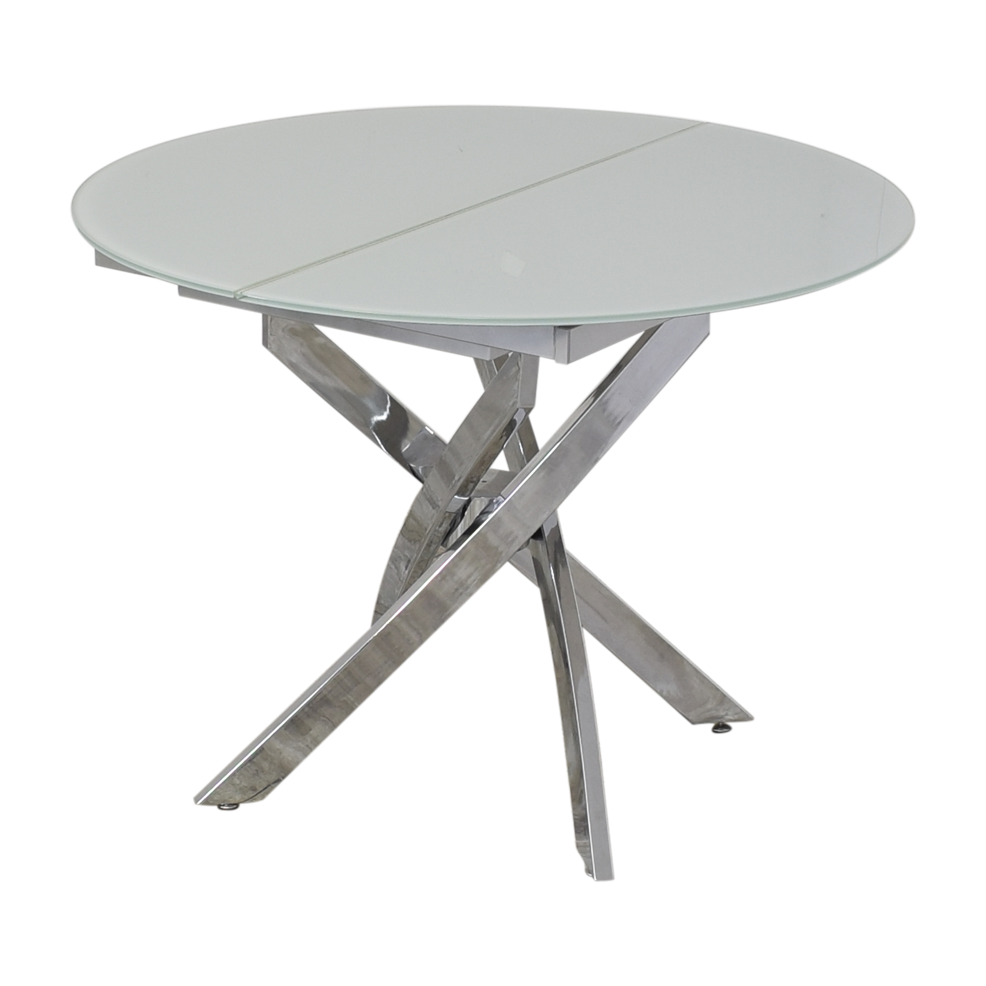 Lumens Lumens Modern Extendable Glass Dining Table second hand