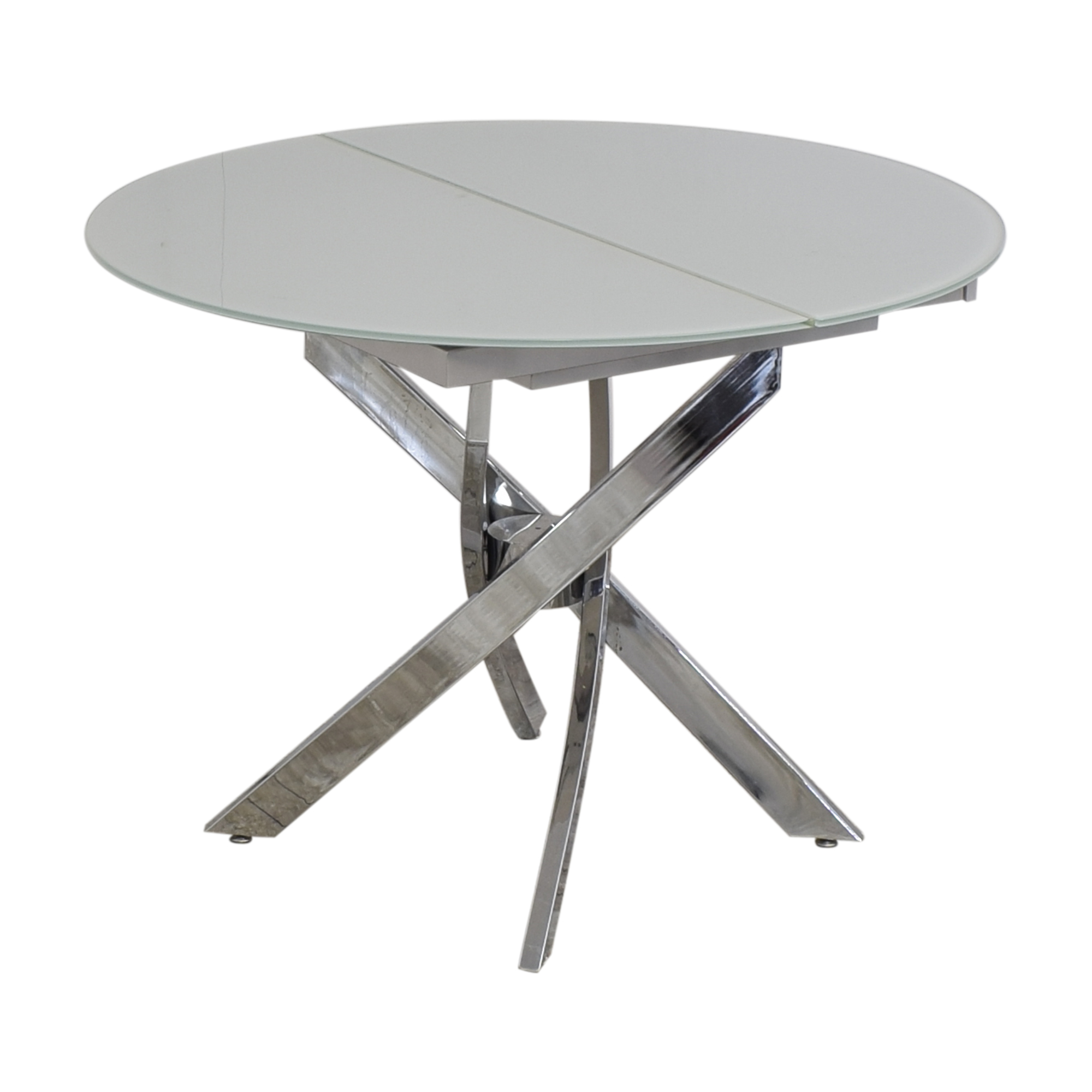 buy Lumens Modern Extendable Glass Dining Table Lumens Tables