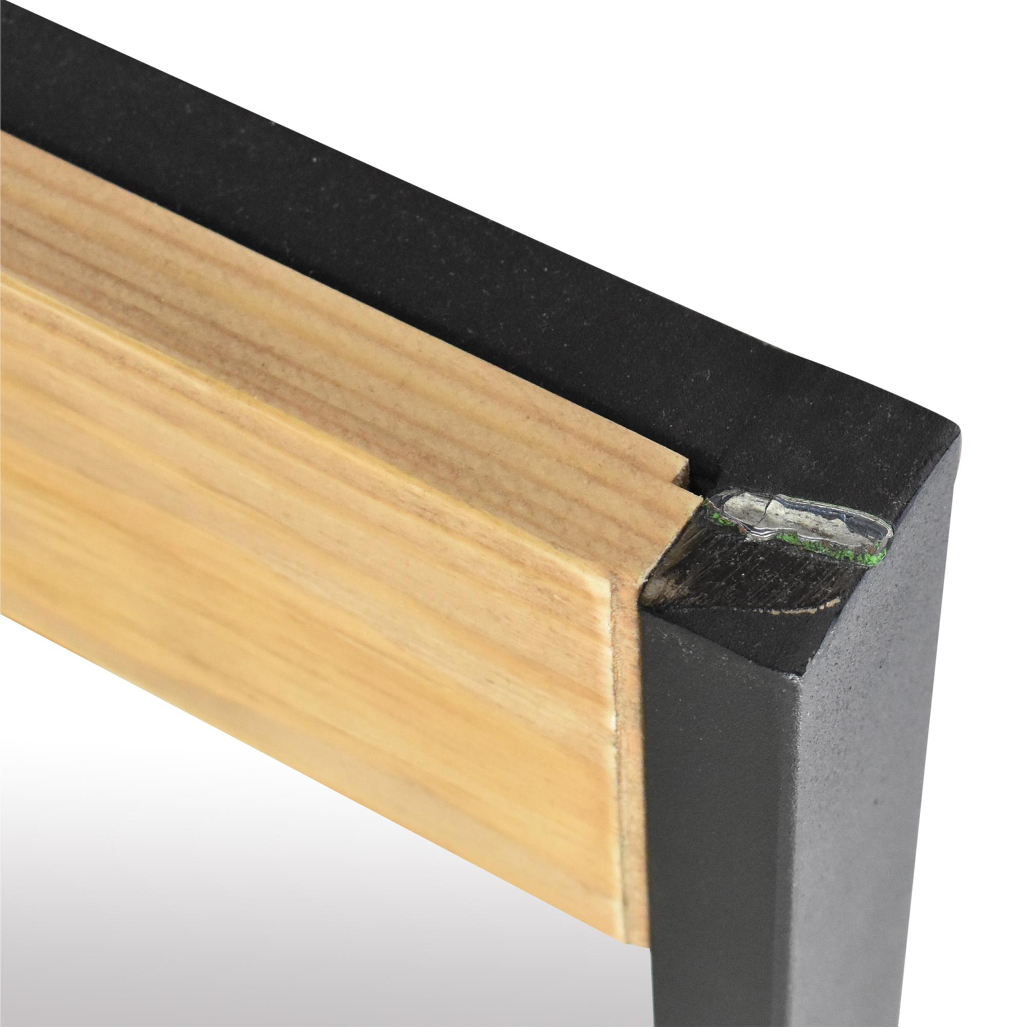 buy Wood Accented Floor Mirror