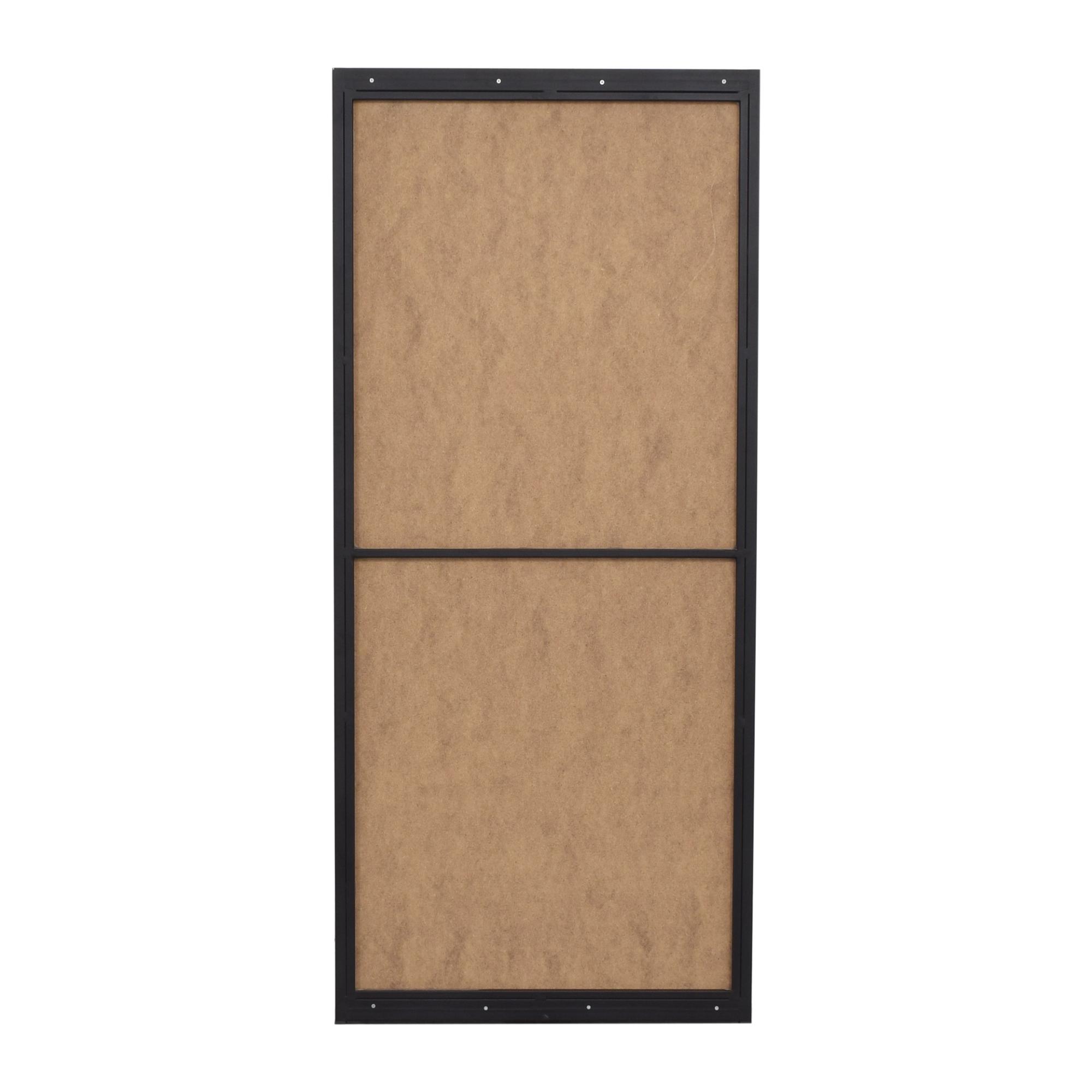 Wood Accented Floor Mirror discount