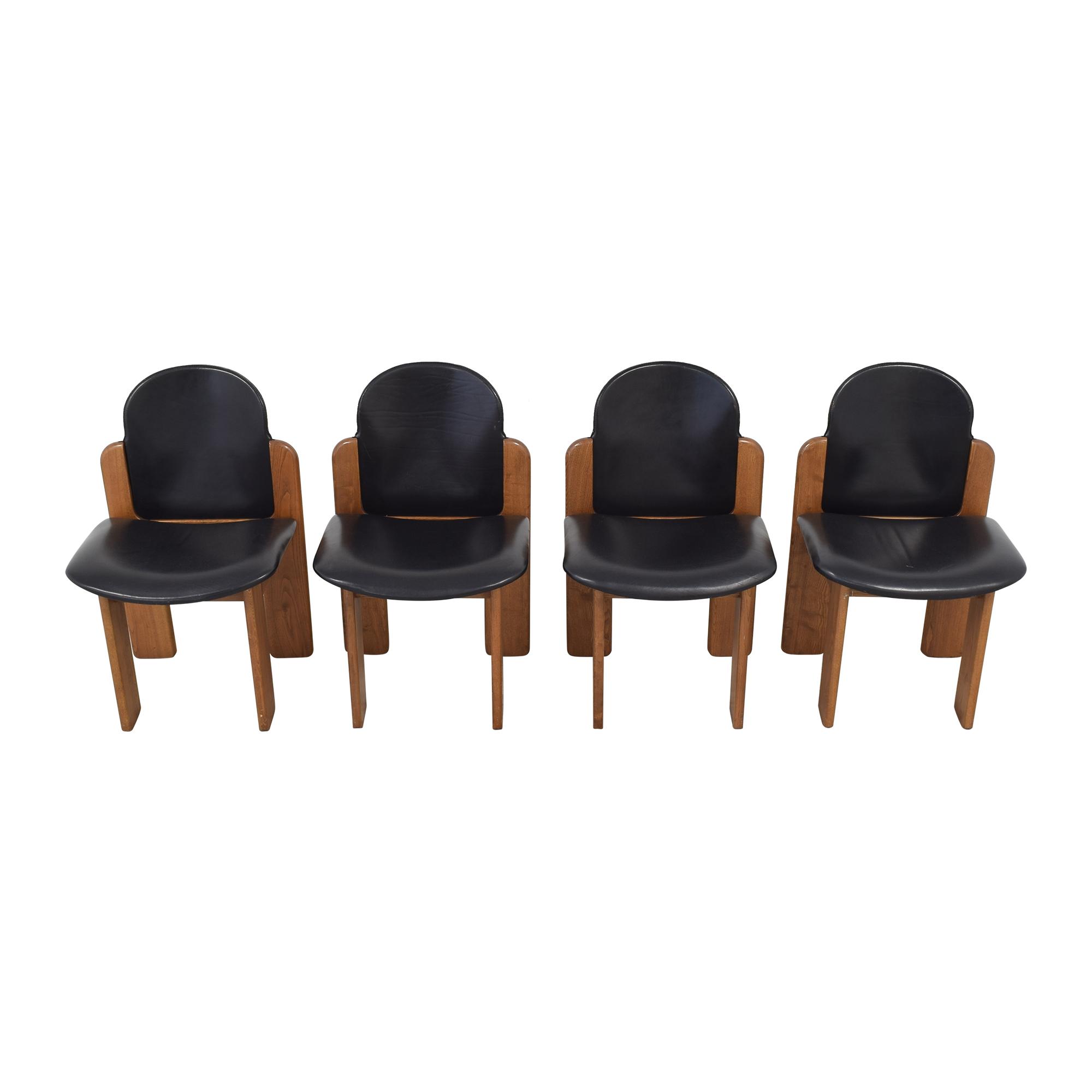Fratelli Montina Fratelli Montina Italian Dining Chairs black & brown