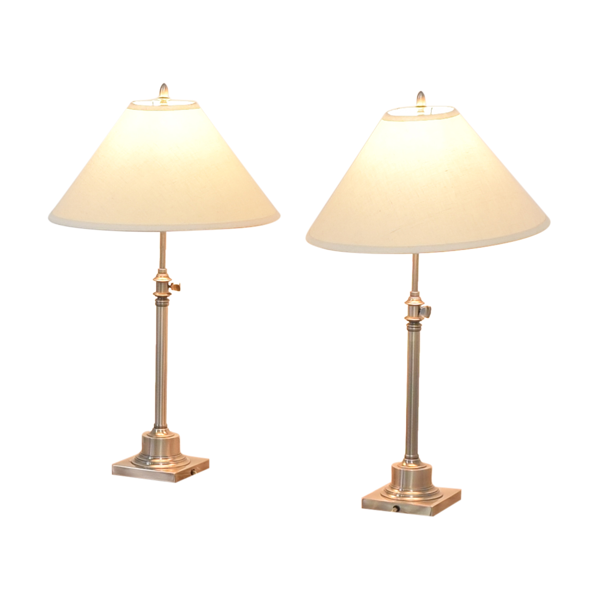 Restoration Hardware Restoration Hardware Adjustable Table Lamps used
