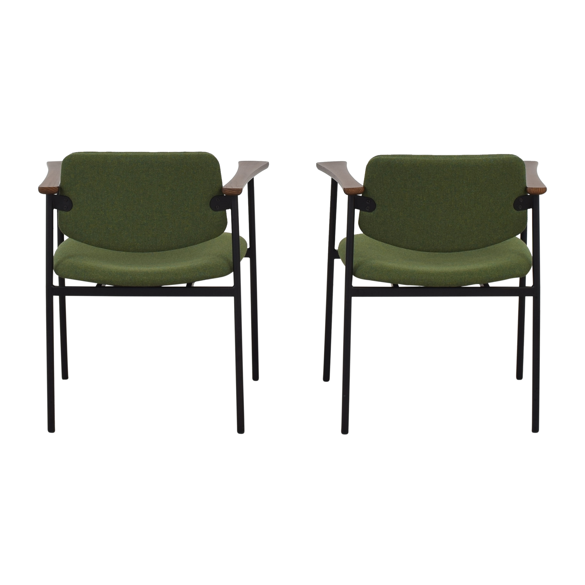 CB2 CB2 Warren Green Chairs discount