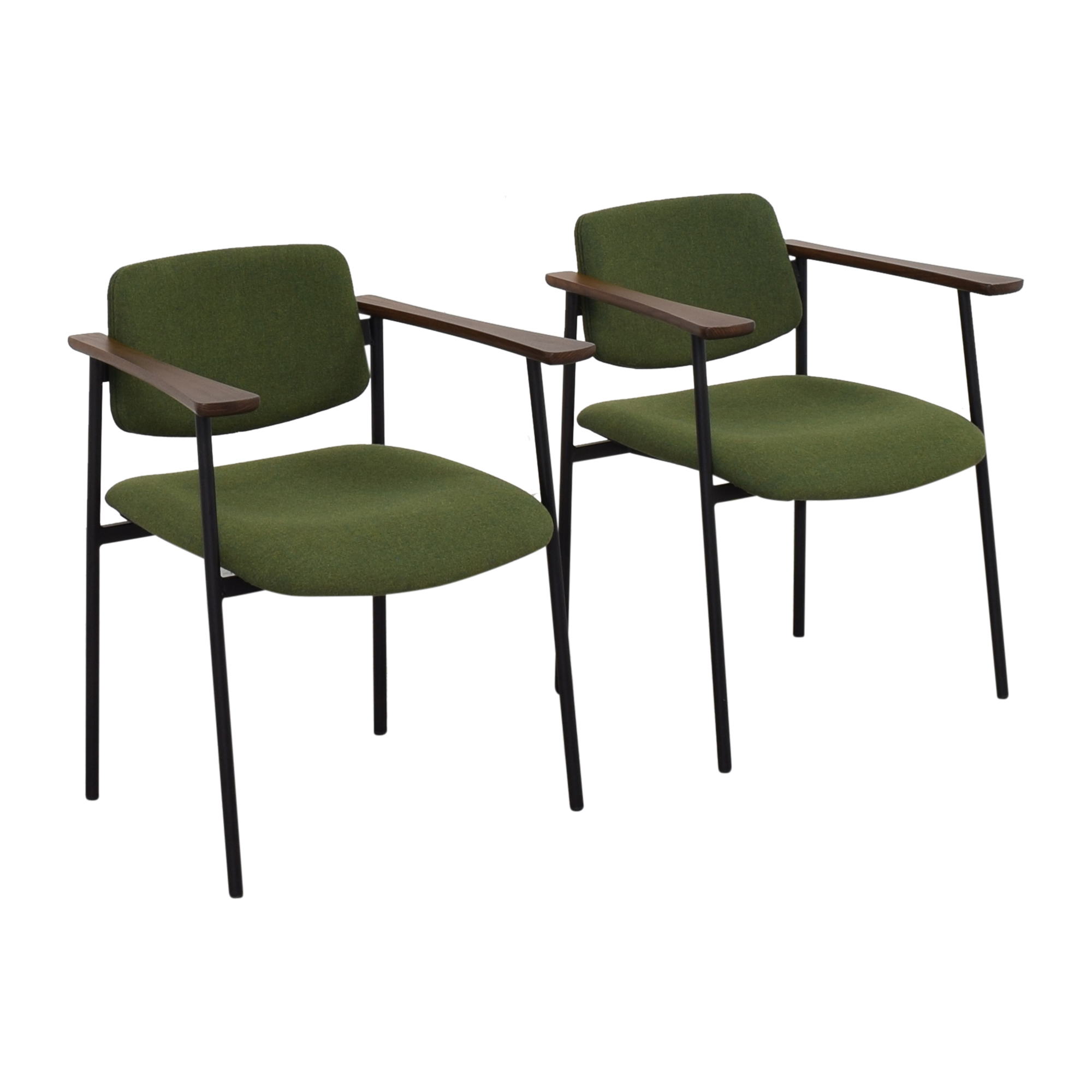 shop CB2 Warren Green Chairs CB2